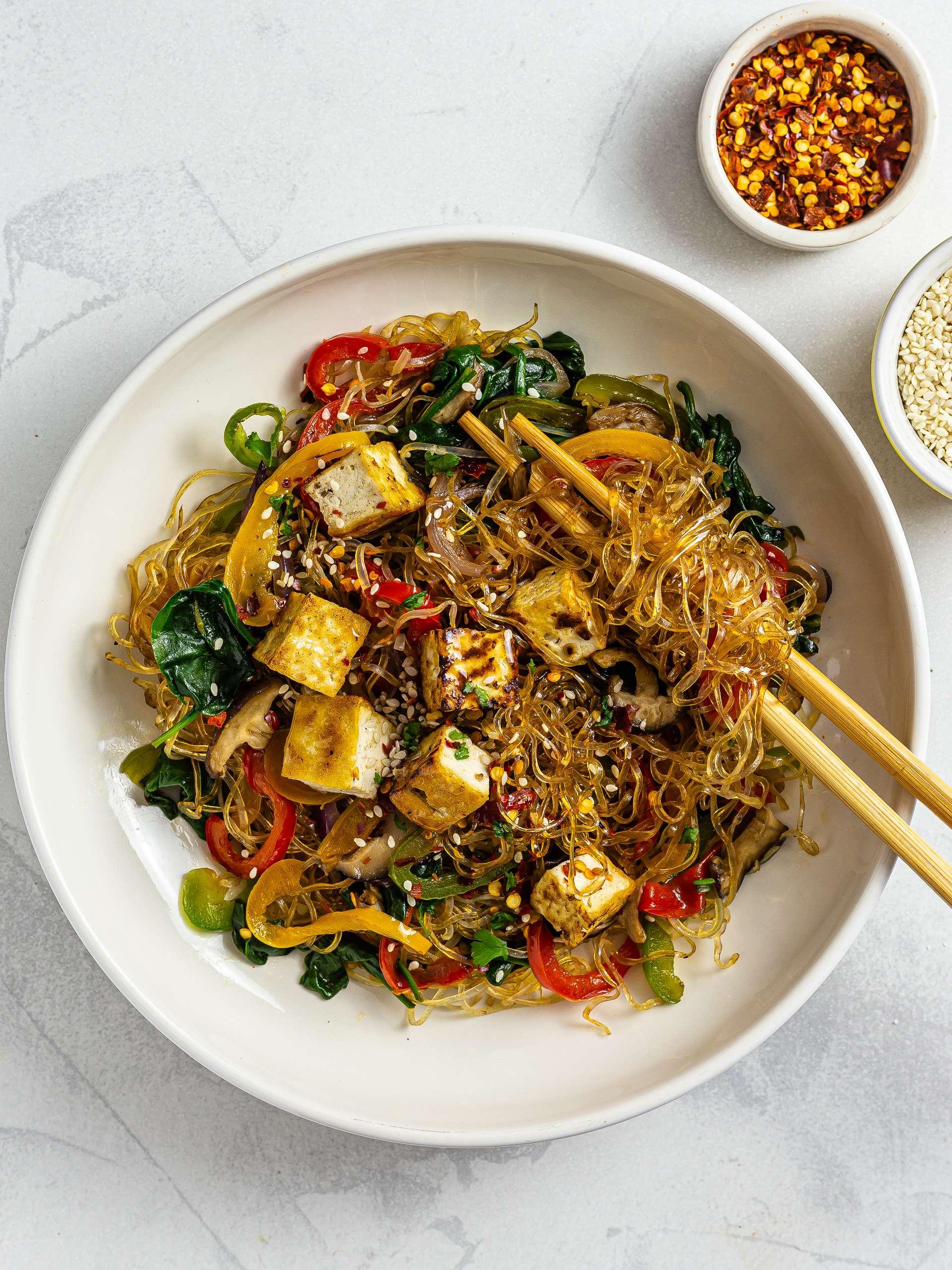 Vegan Japchae Recipe Thumbnail