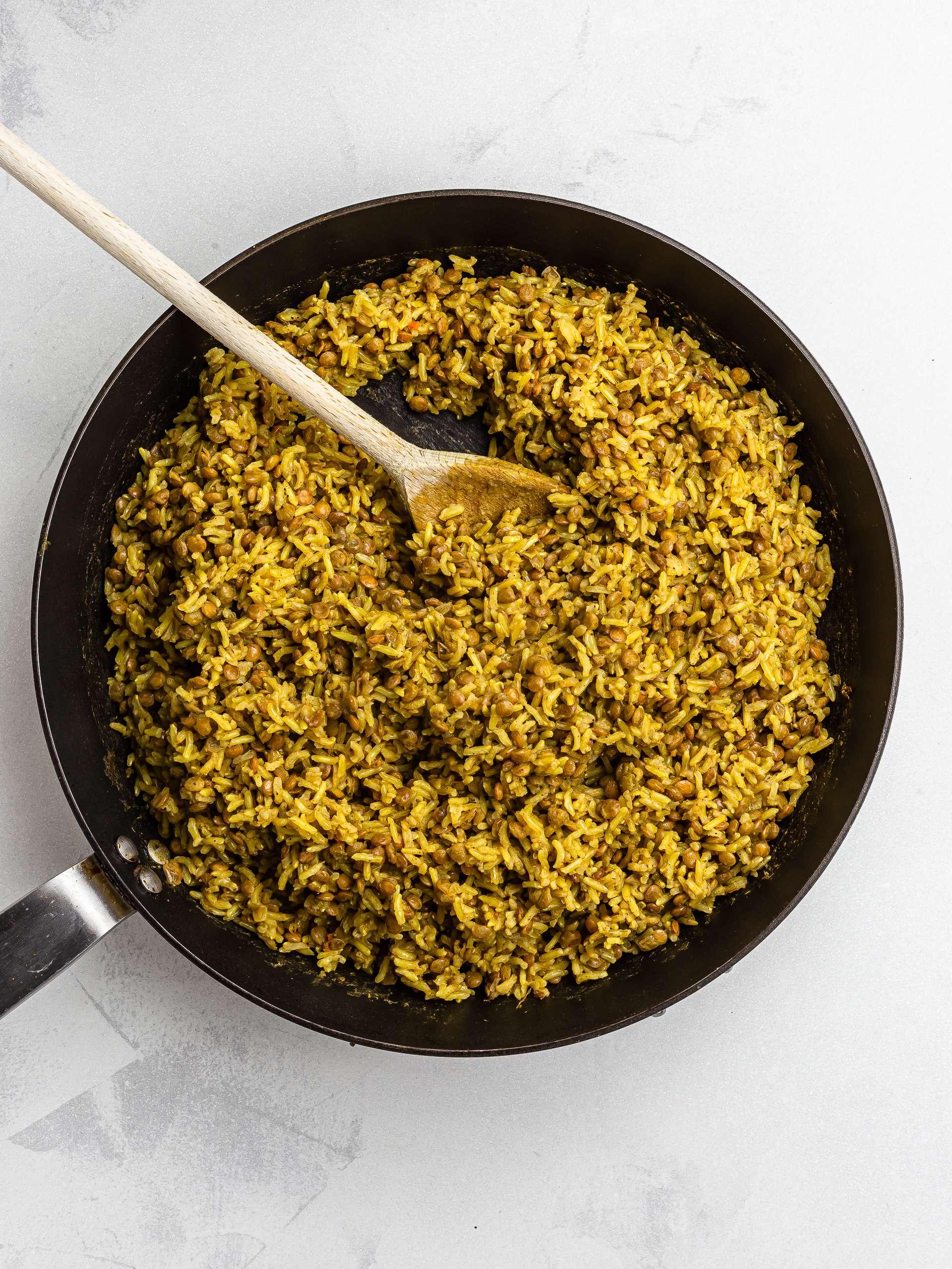lebanese lentils and rice mujadara