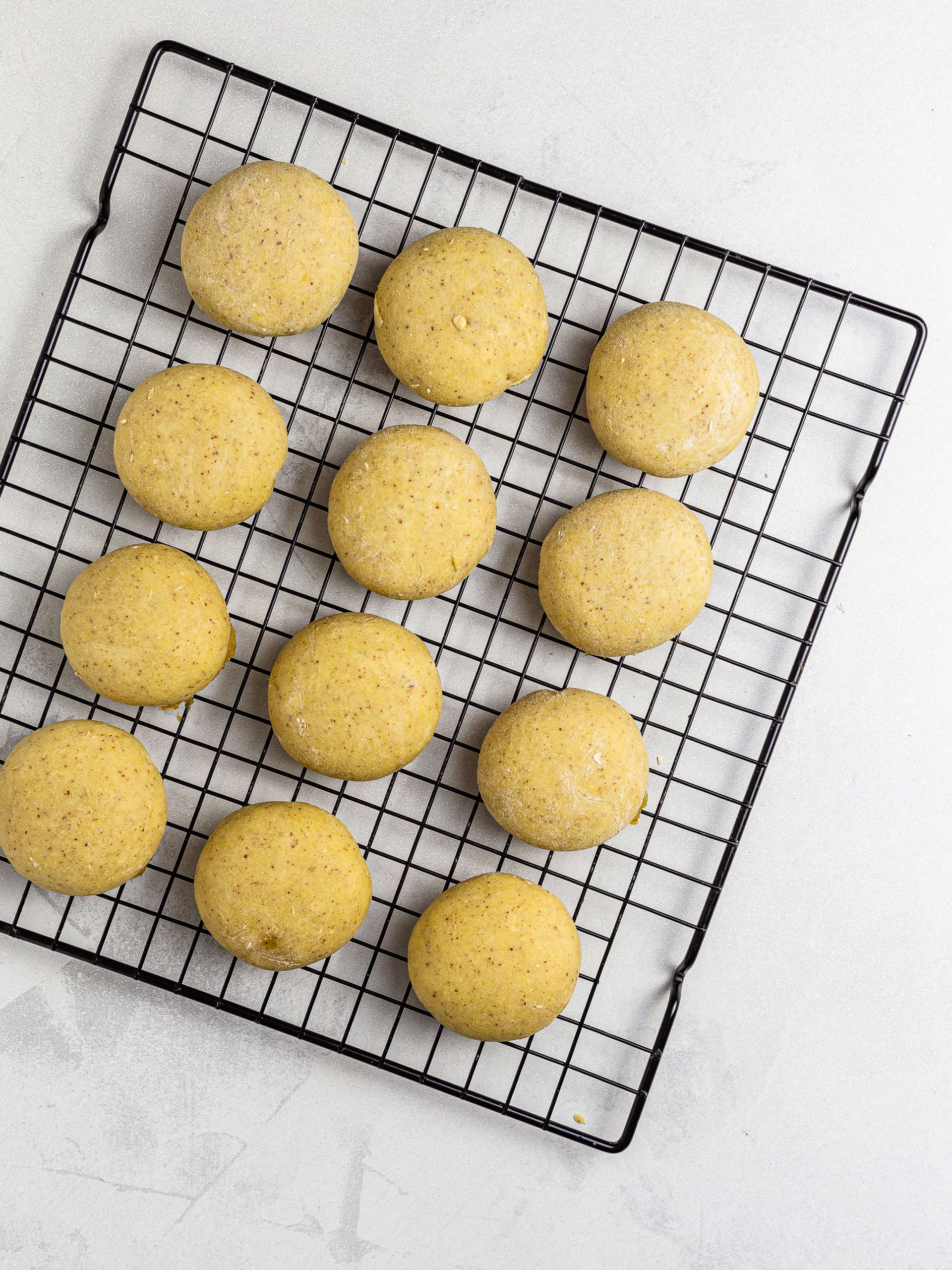 oven-baked kue nastar cookies on a rack