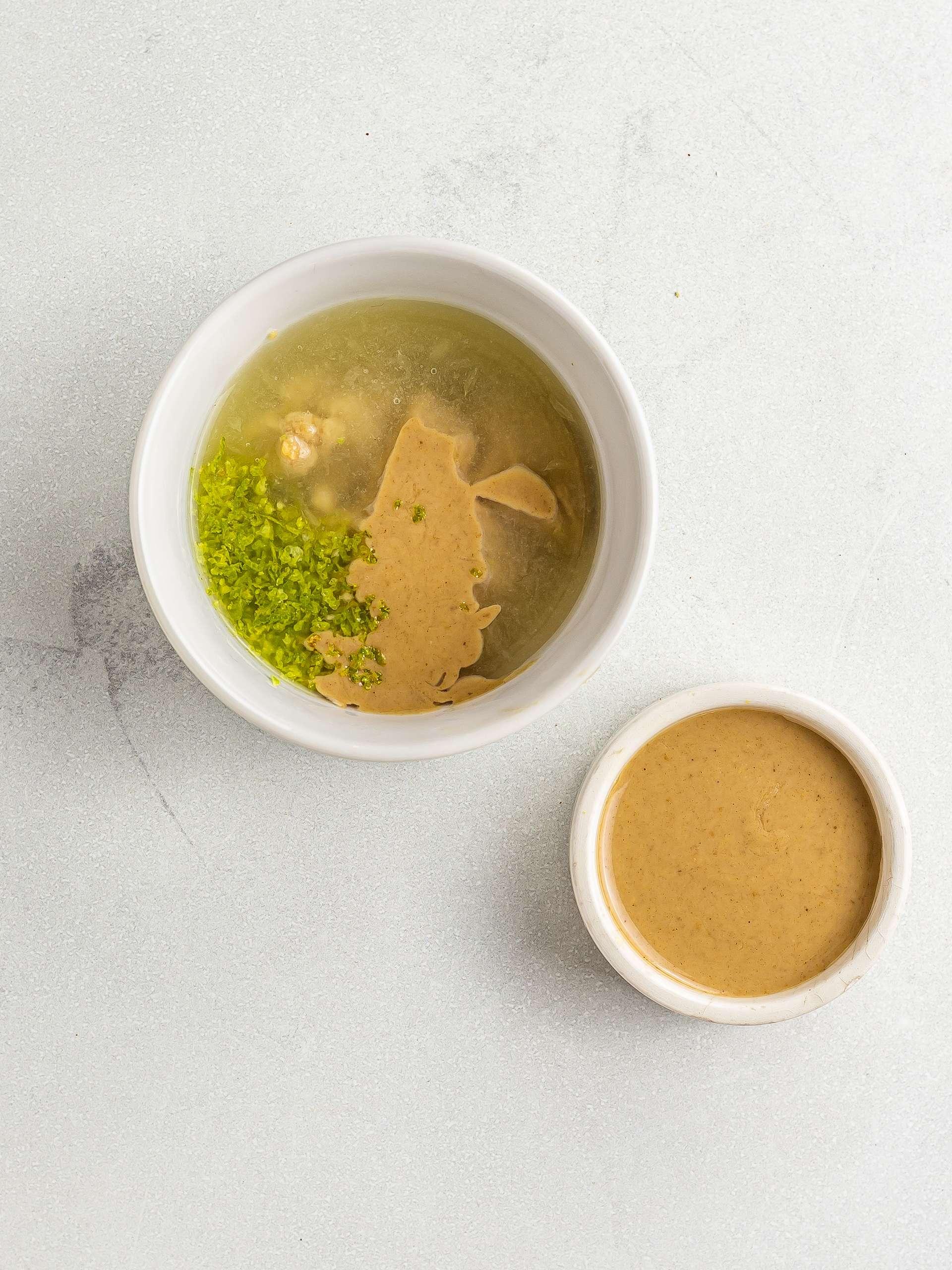 lime juice dressing with tahini