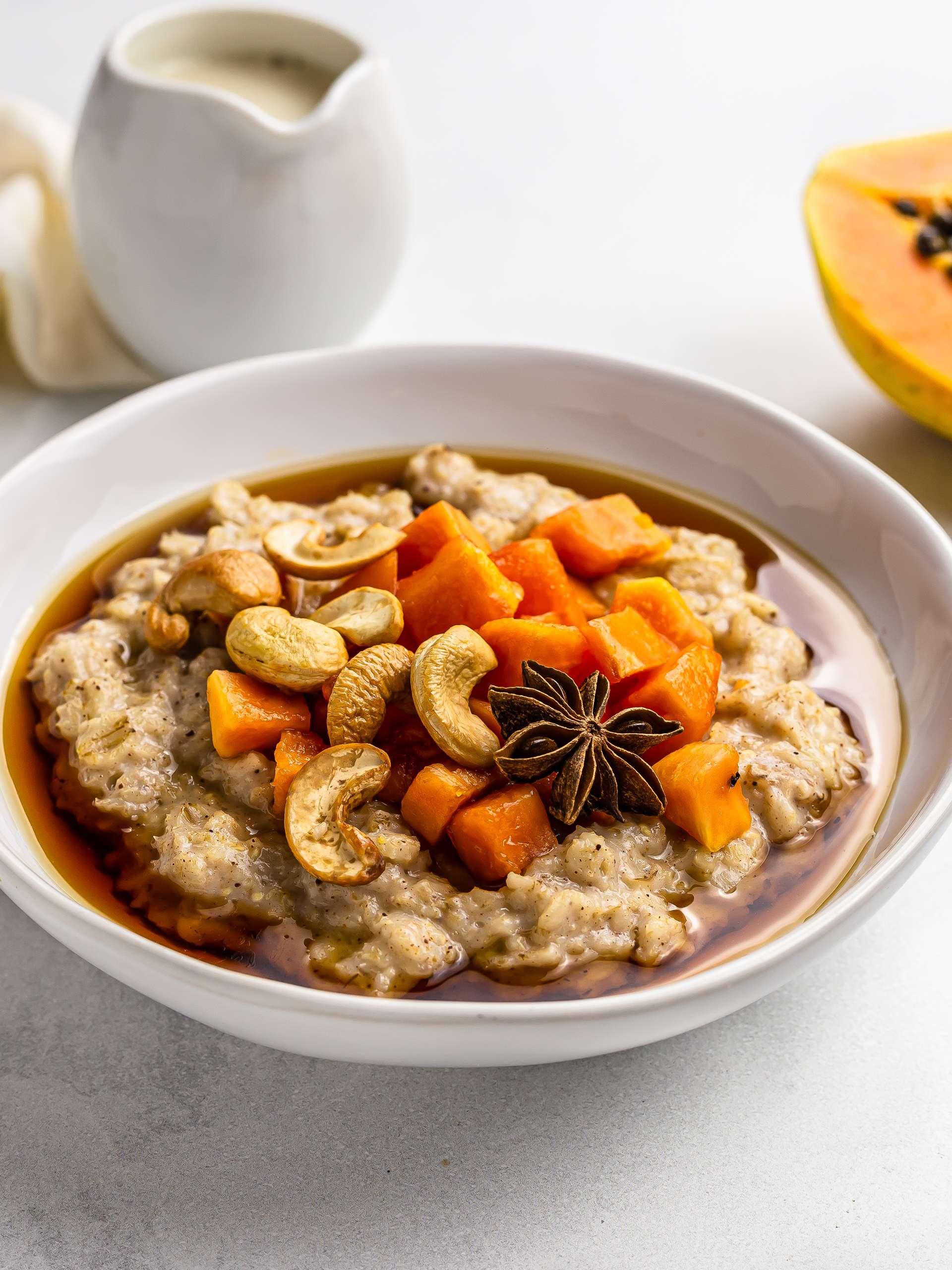 Haitian Oatmeal with Papaya