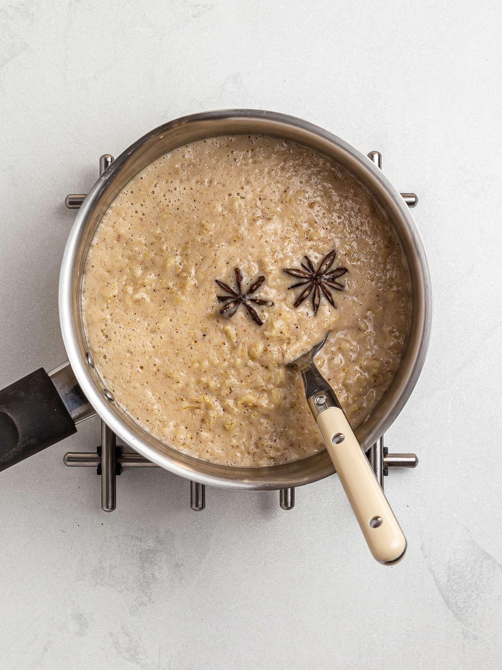 haitian coconut oatmeal with star anise