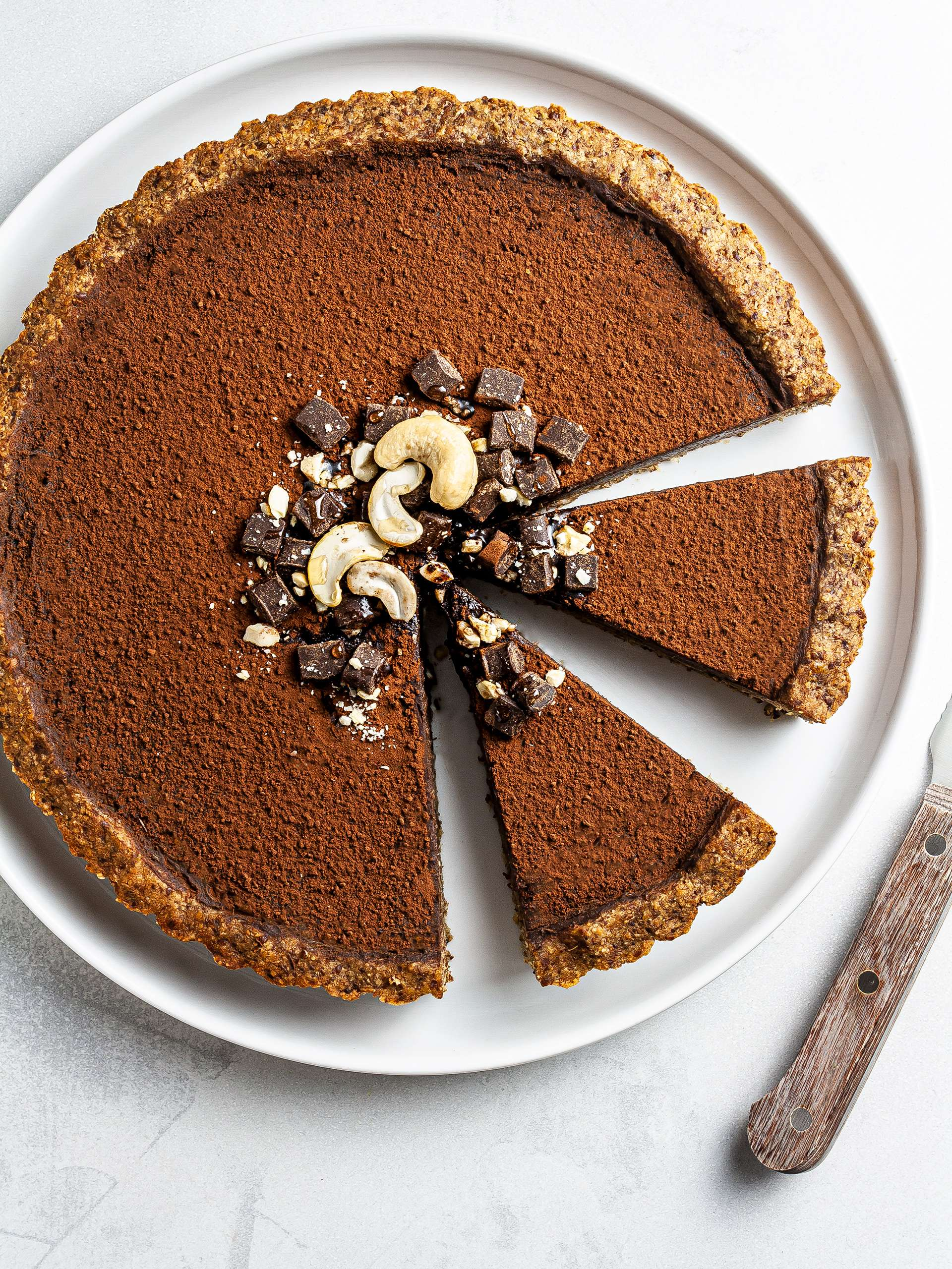 {Vegan, GF, Sugar-Free} Sweet Potato Chocolate Pie