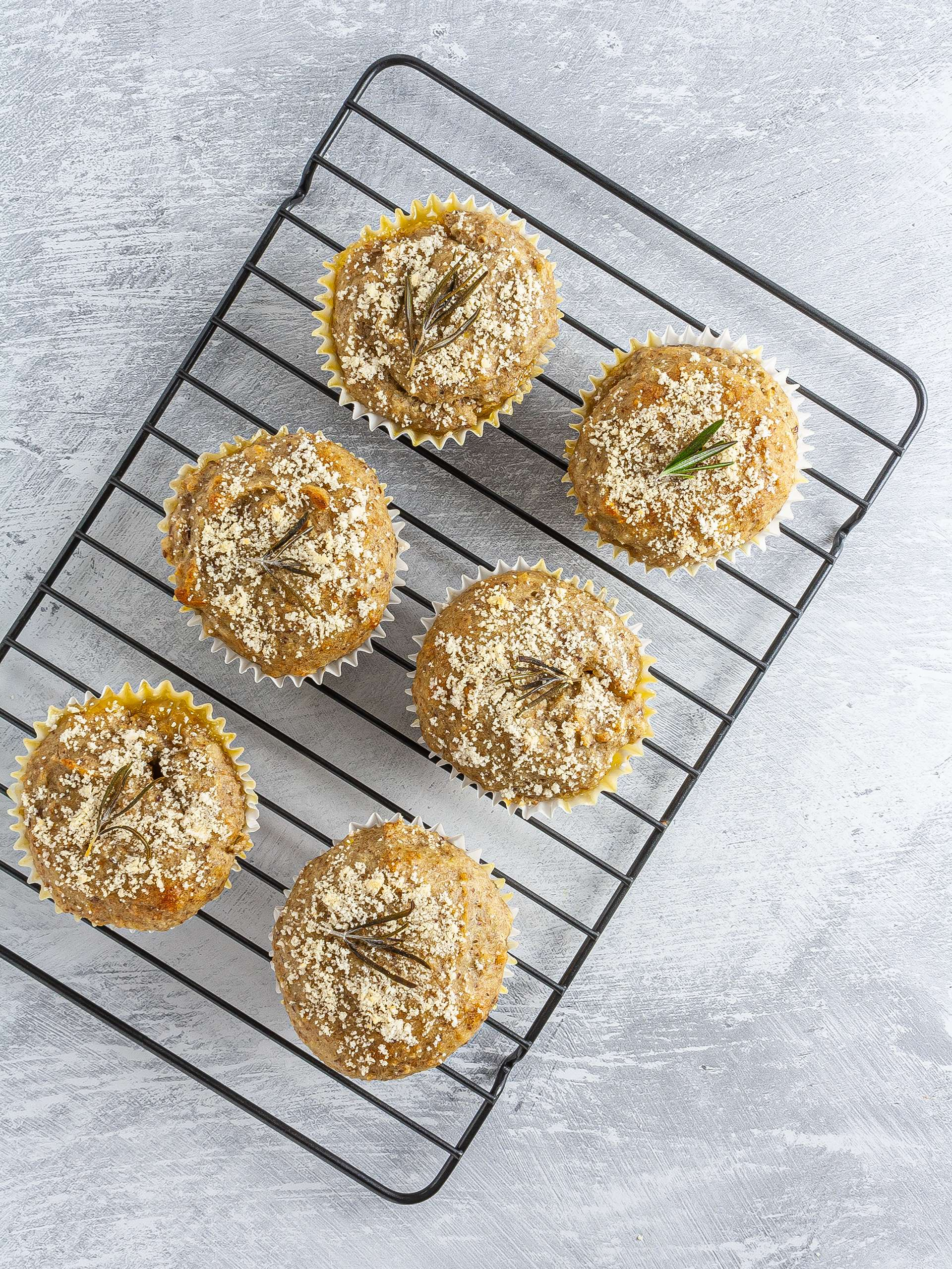 Baked lemon rosemary muffins