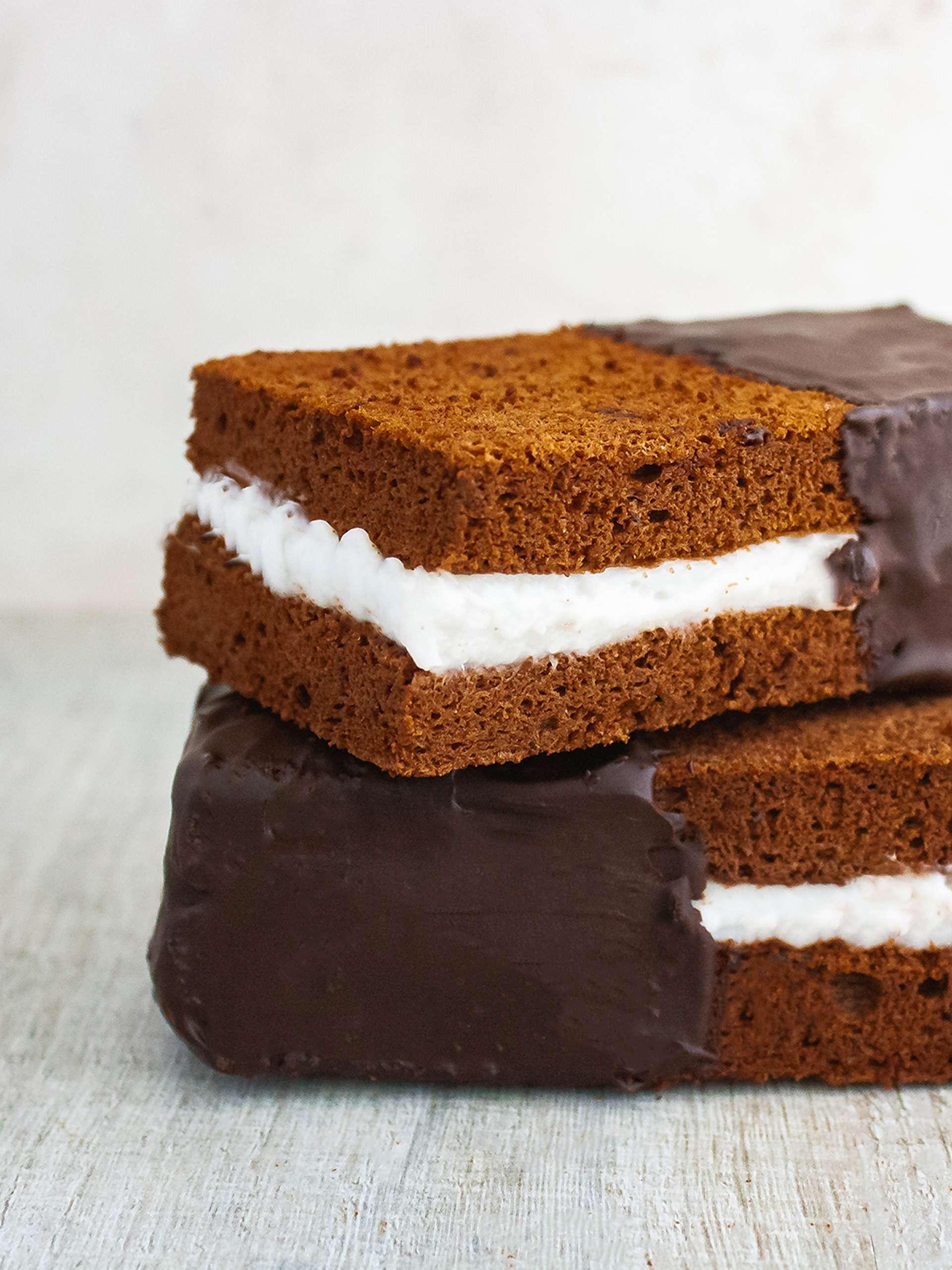 Dairy Free Chocolate Sandwich Cake Bar