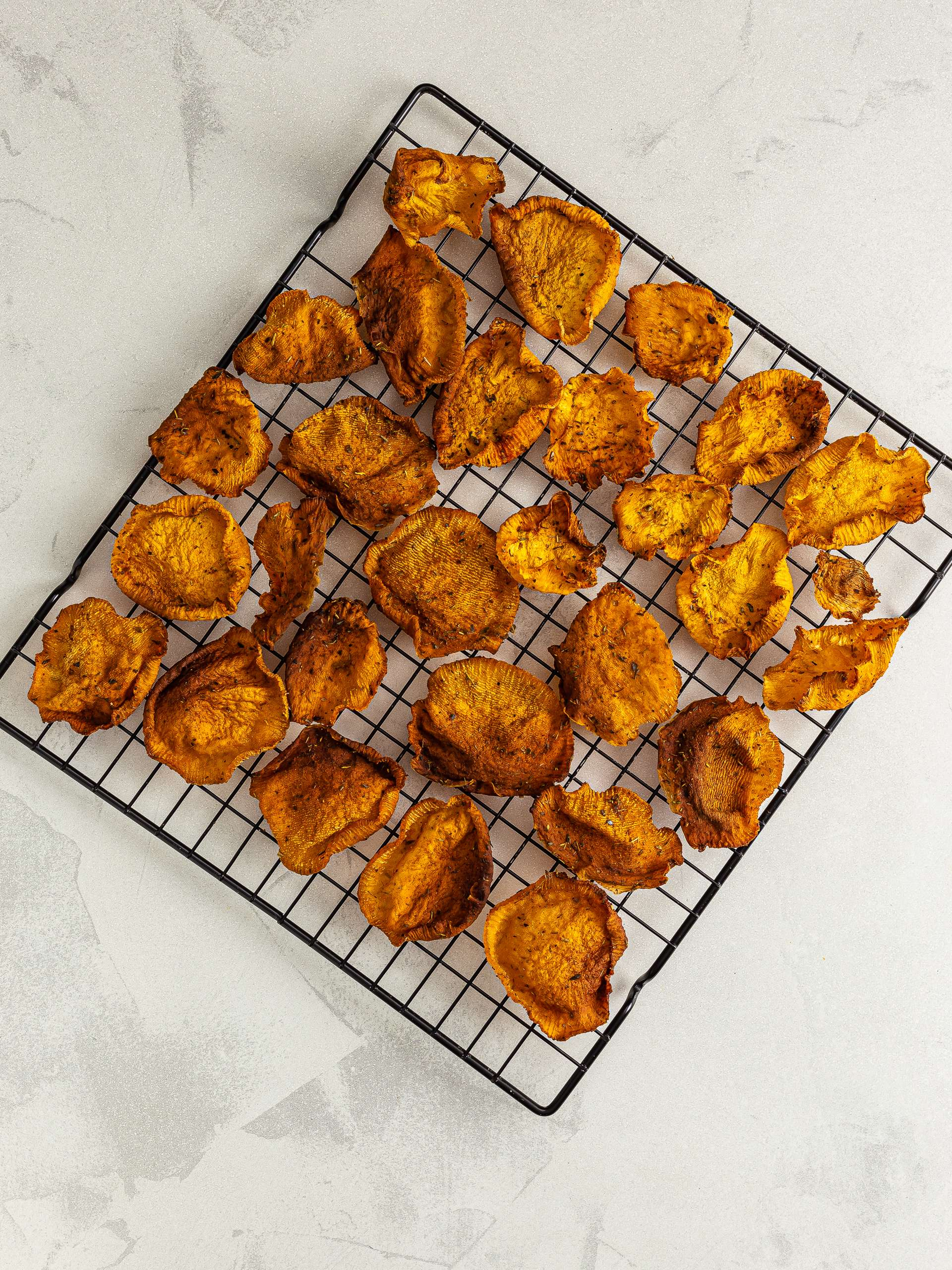 oven baked cajun rutabaga chips