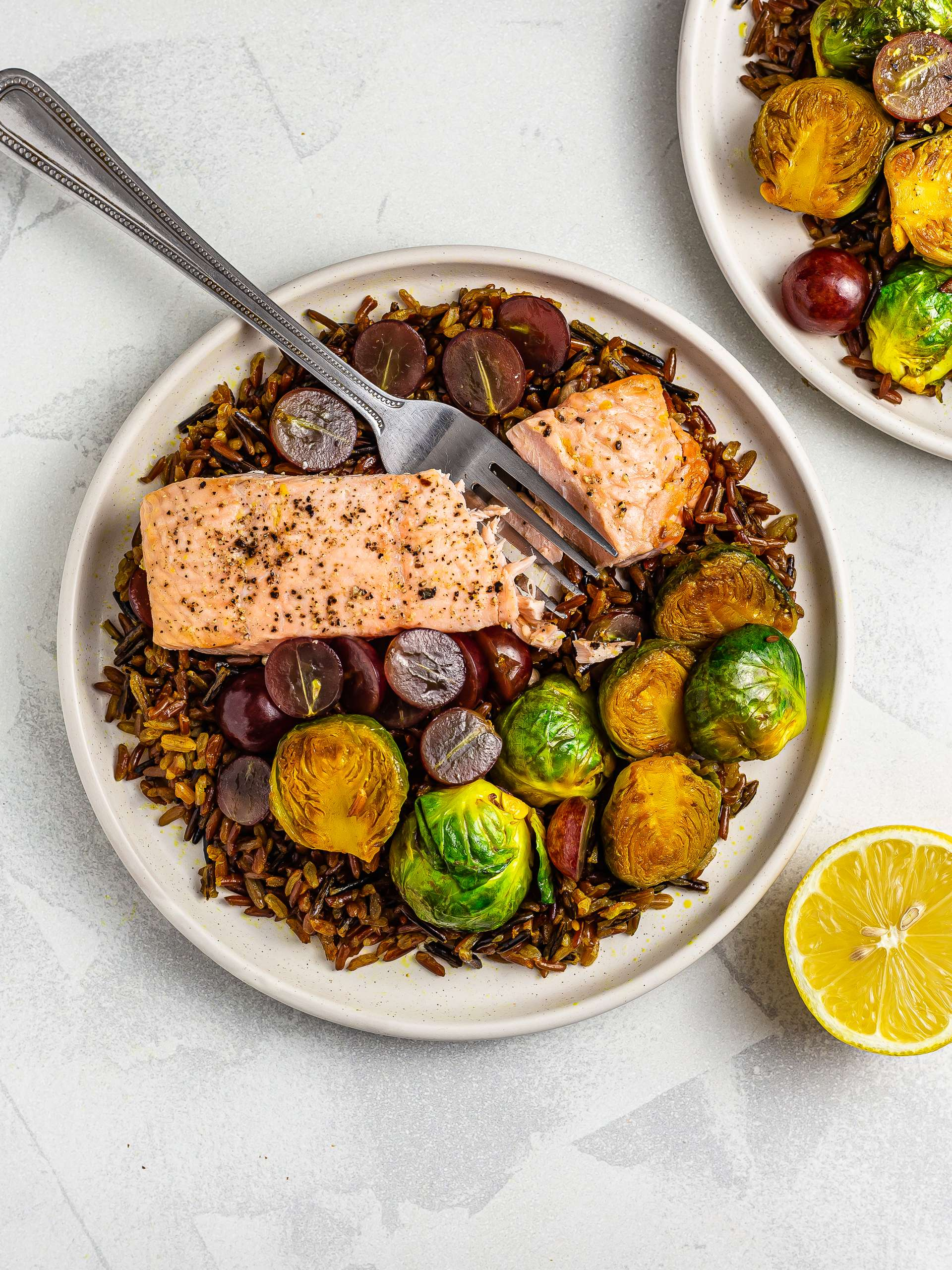 Red Rice Salmon Salad Recipe Thumbnail