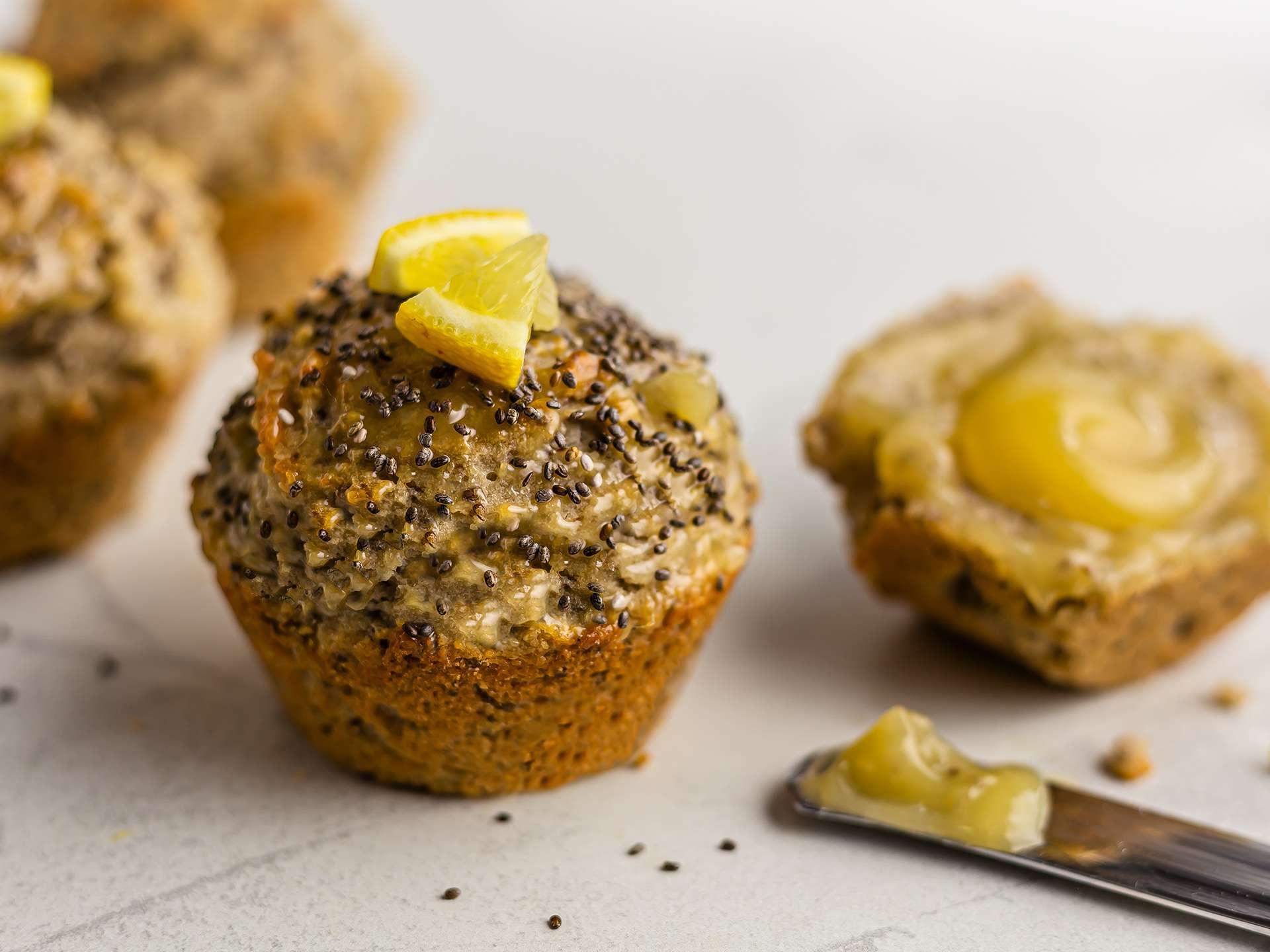 Lemon Chia Seed Muffins {Vegan, Gluten-Free}