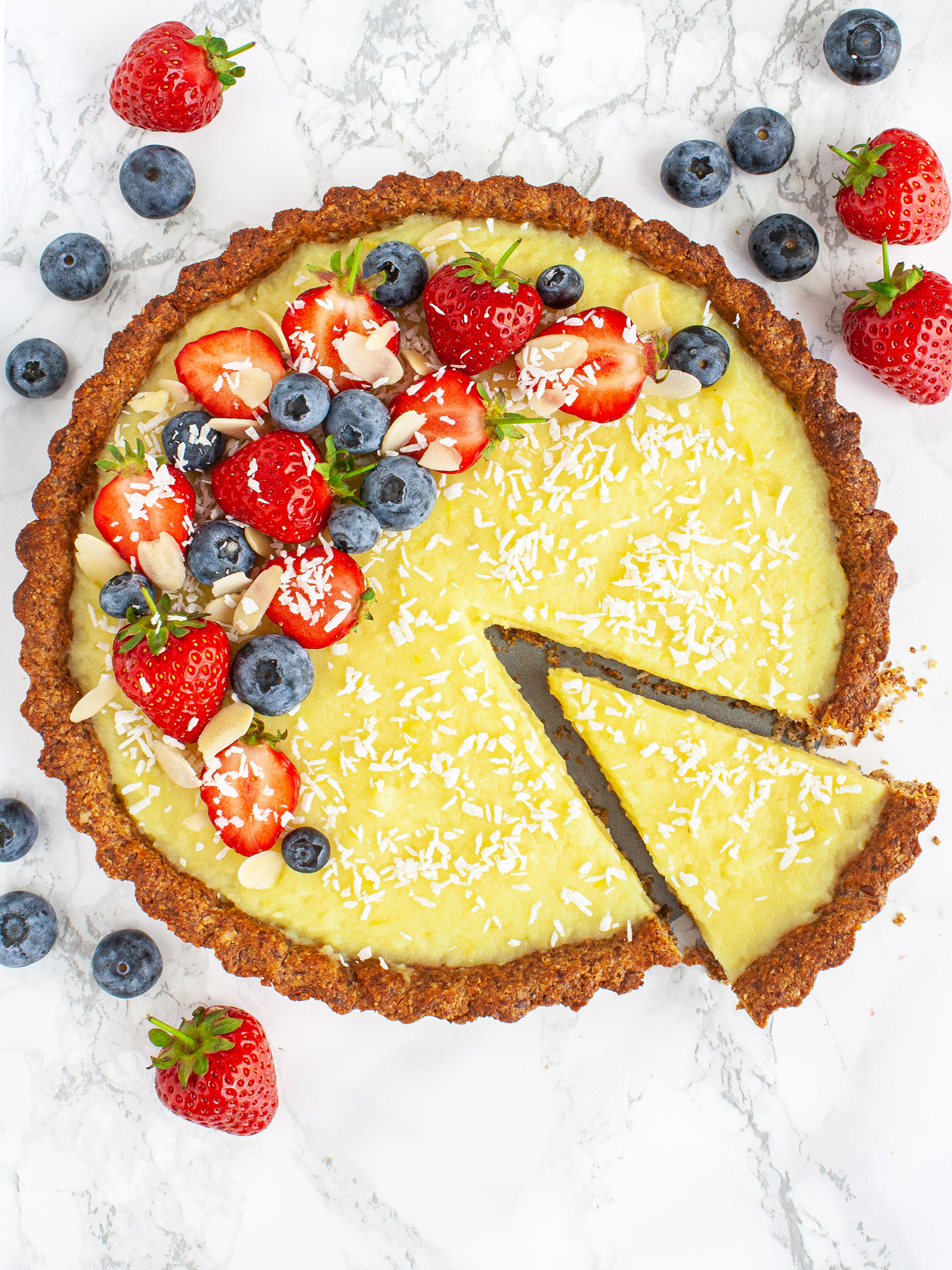 Gluten Free Vegan Lemon Tart Preview