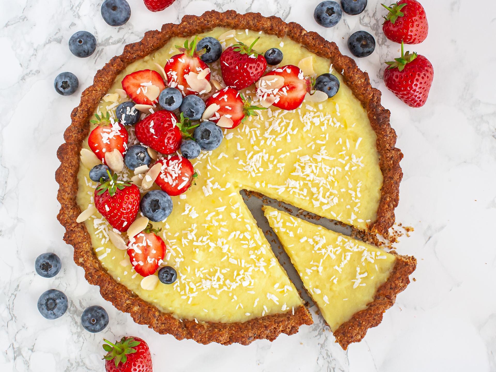 Gluten Free Vegan Lemon Tart