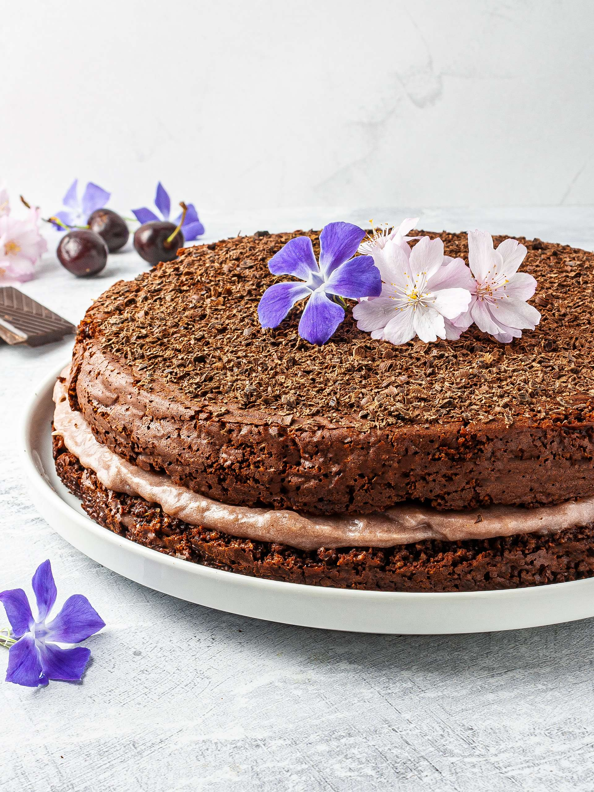 Chocolate Lavender Cake Recipe Thumbnail