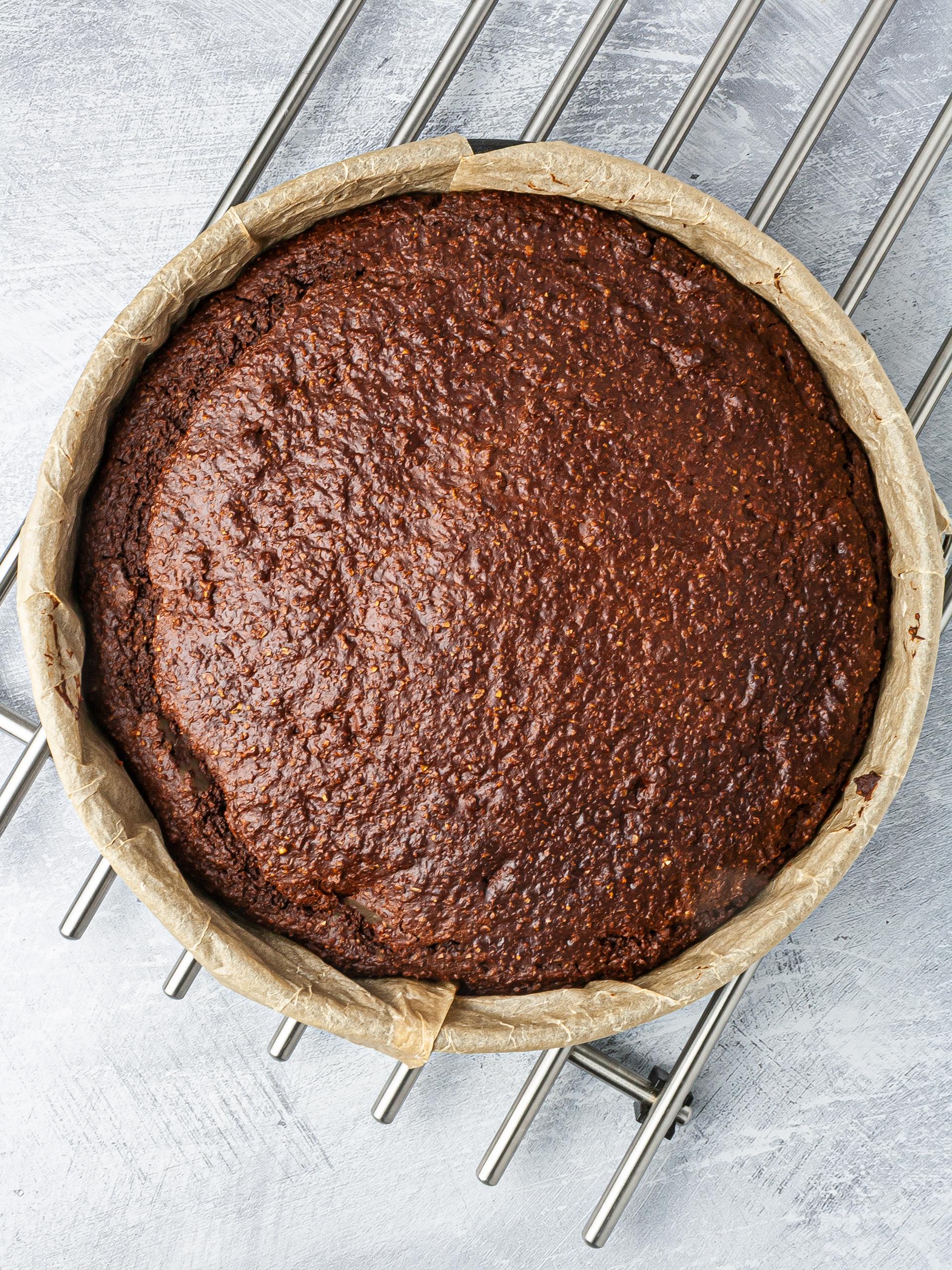 Chocolate lavender cake baked