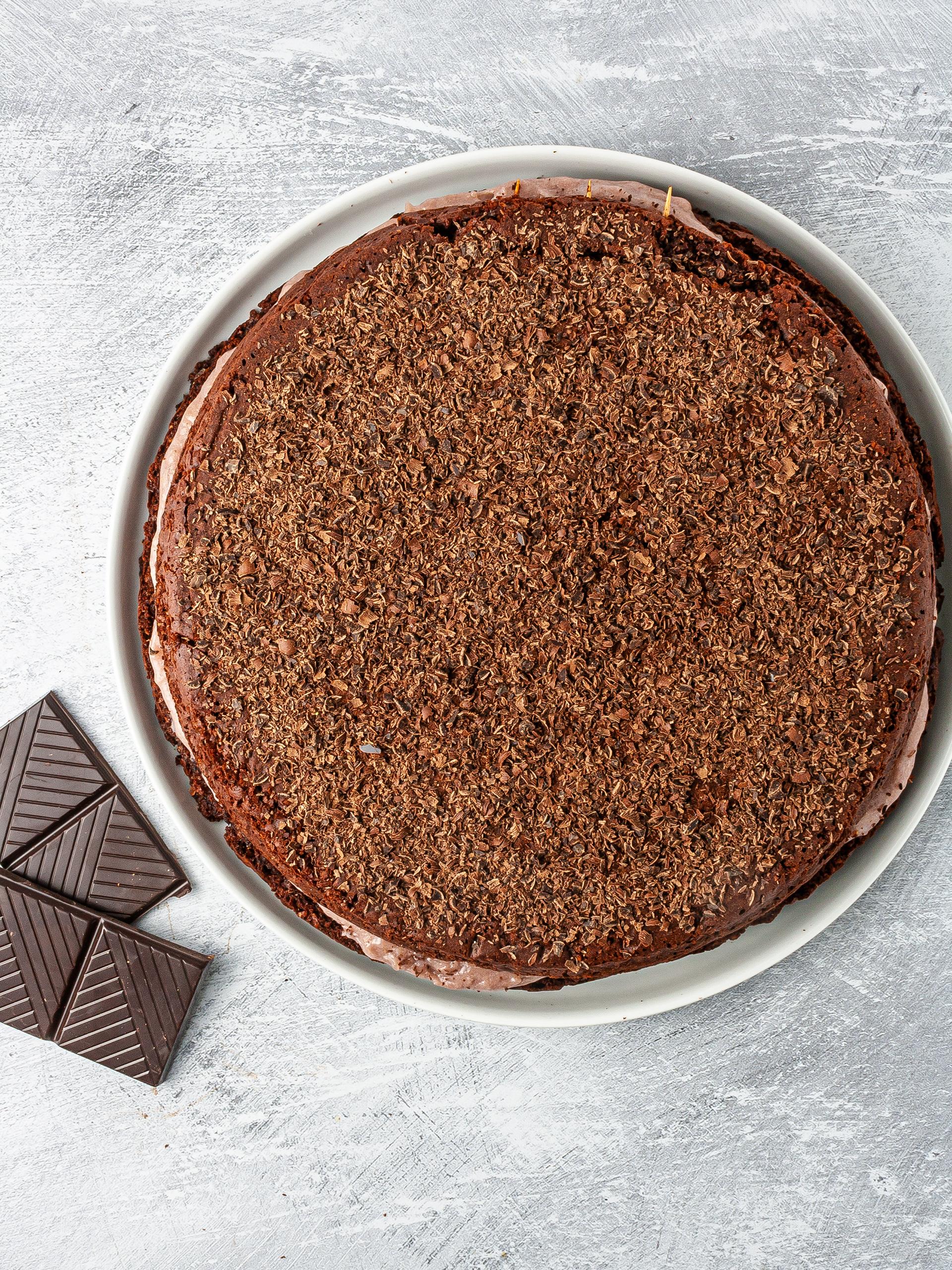 Step 5.2 of Chocolate Lavender Cake Recipe