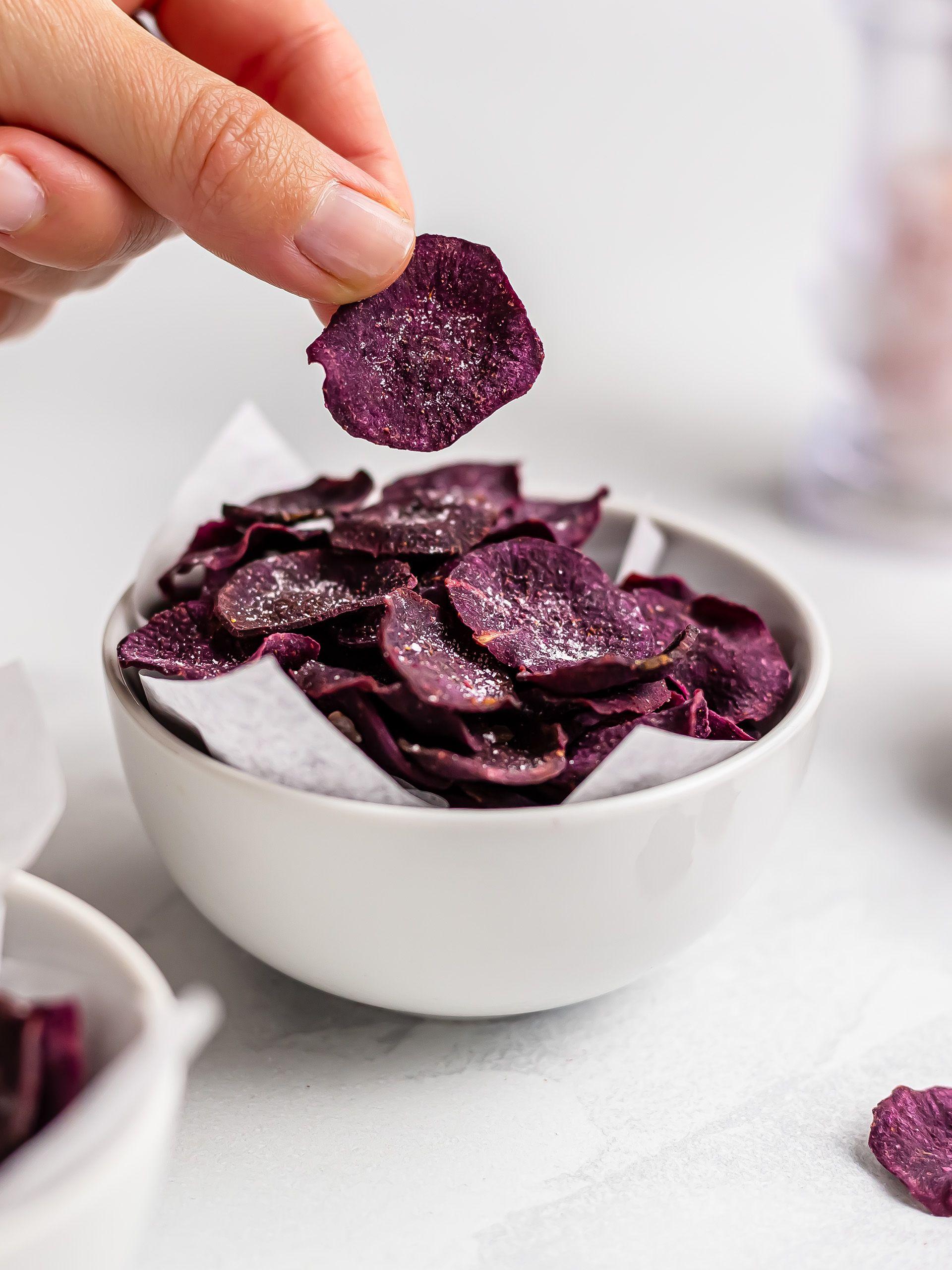 Baked Purple Sweet Potato Chips