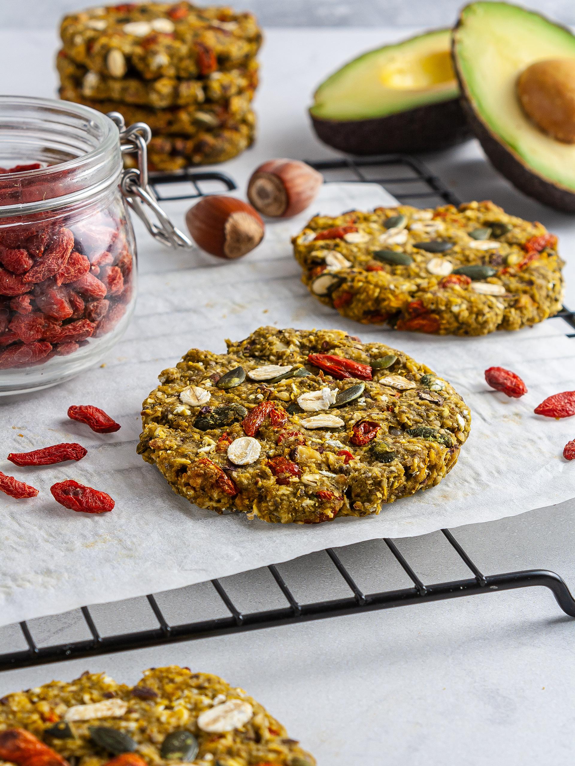 {Gluten-Free, Sugar-Free} Vegan Avocado Cookies Thumbnail