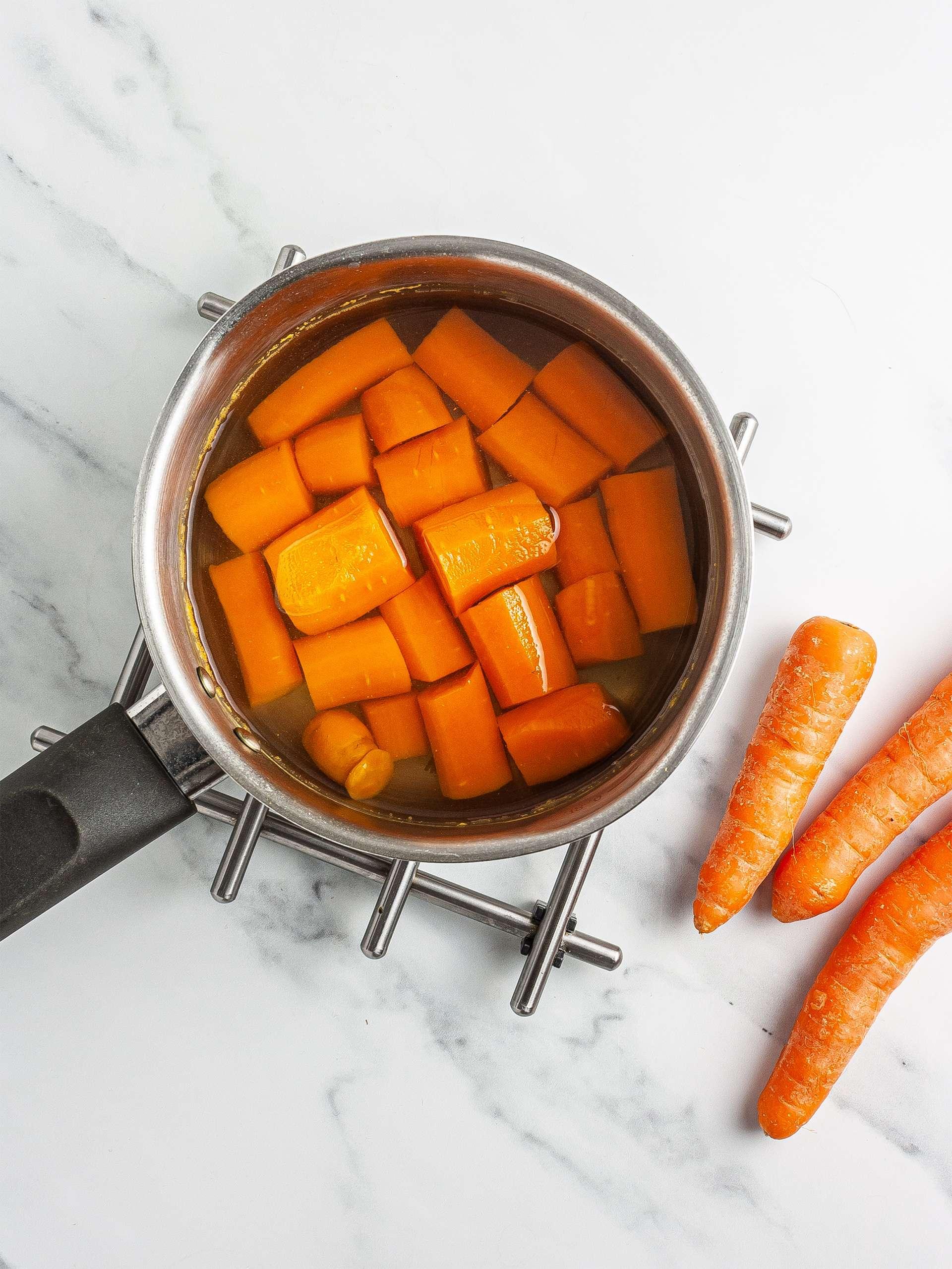 Boiled carrots