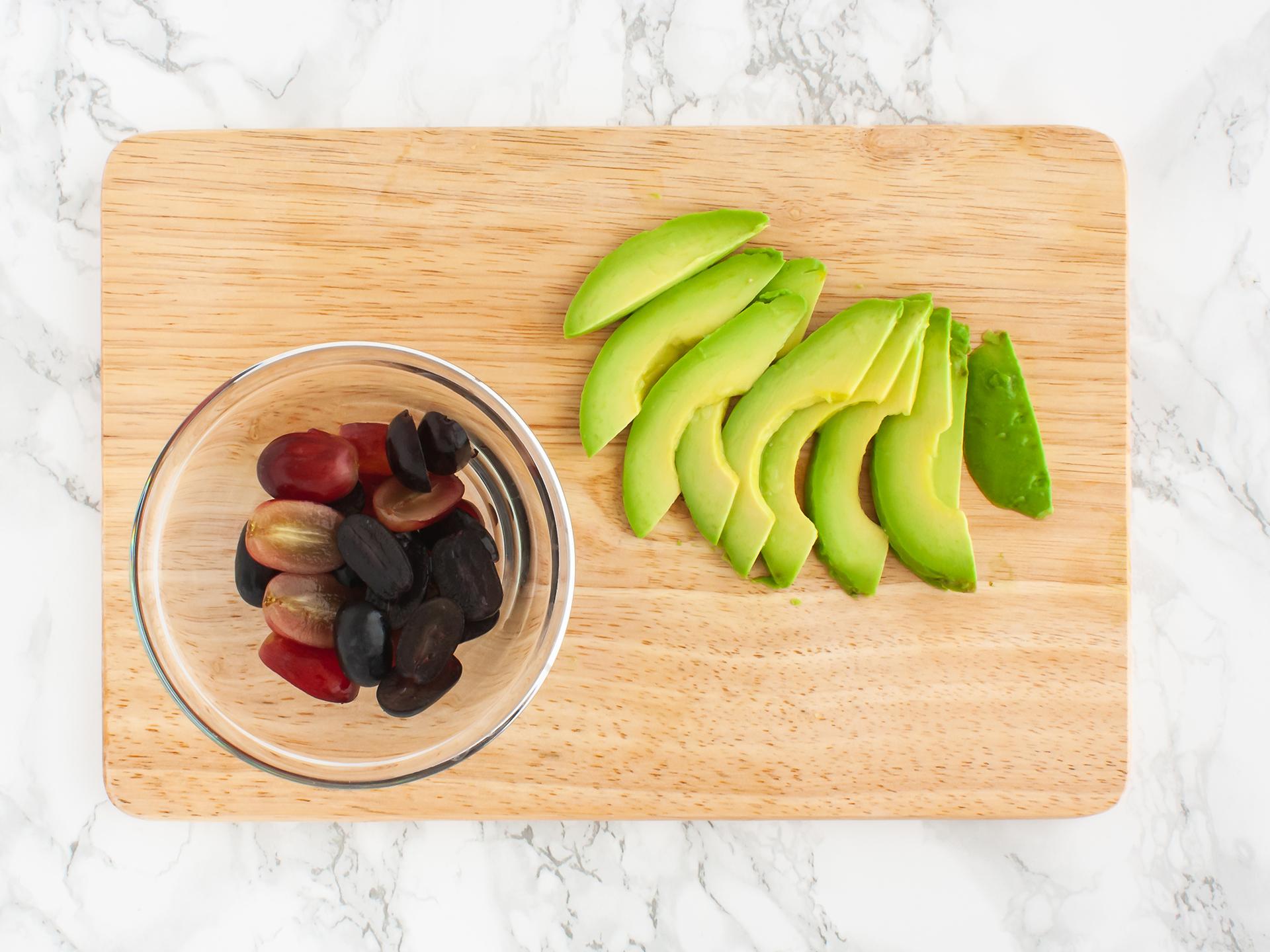 Step 2.1 of Quinoa Avocado Spinach Salad with Grapes