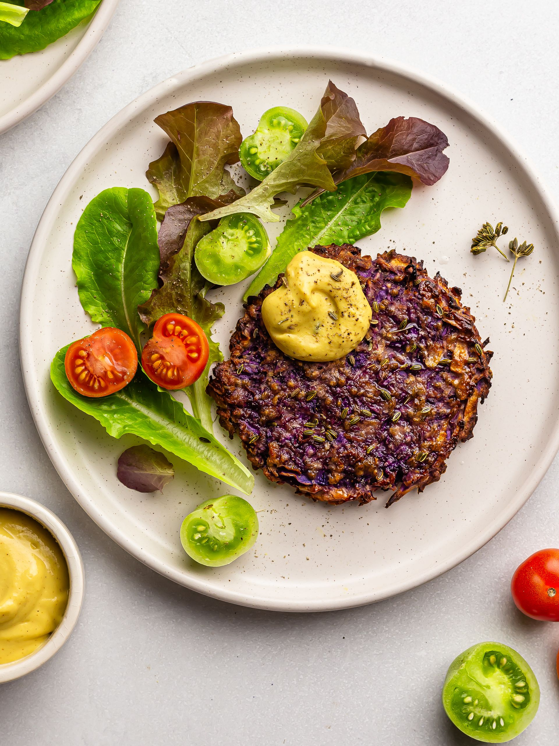 Vegan Red Cabbage Fritters (Oven-Baked)