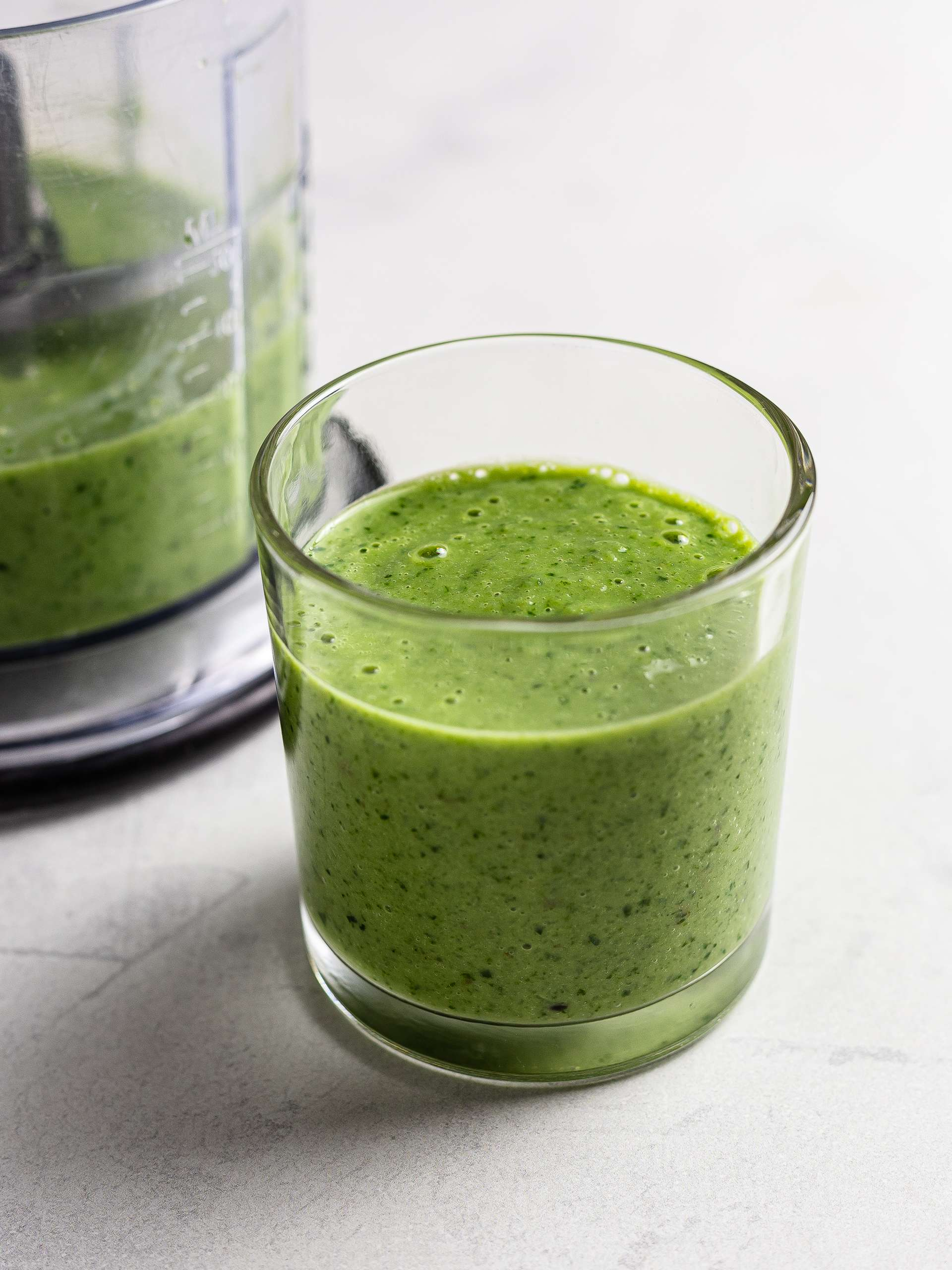 Japanese green smoothie with matcha