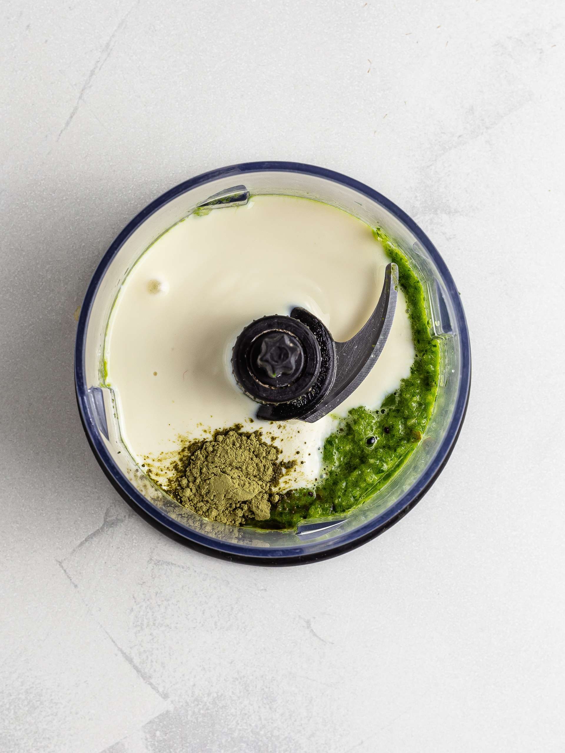 Soy yogurt and matcha green smoothie