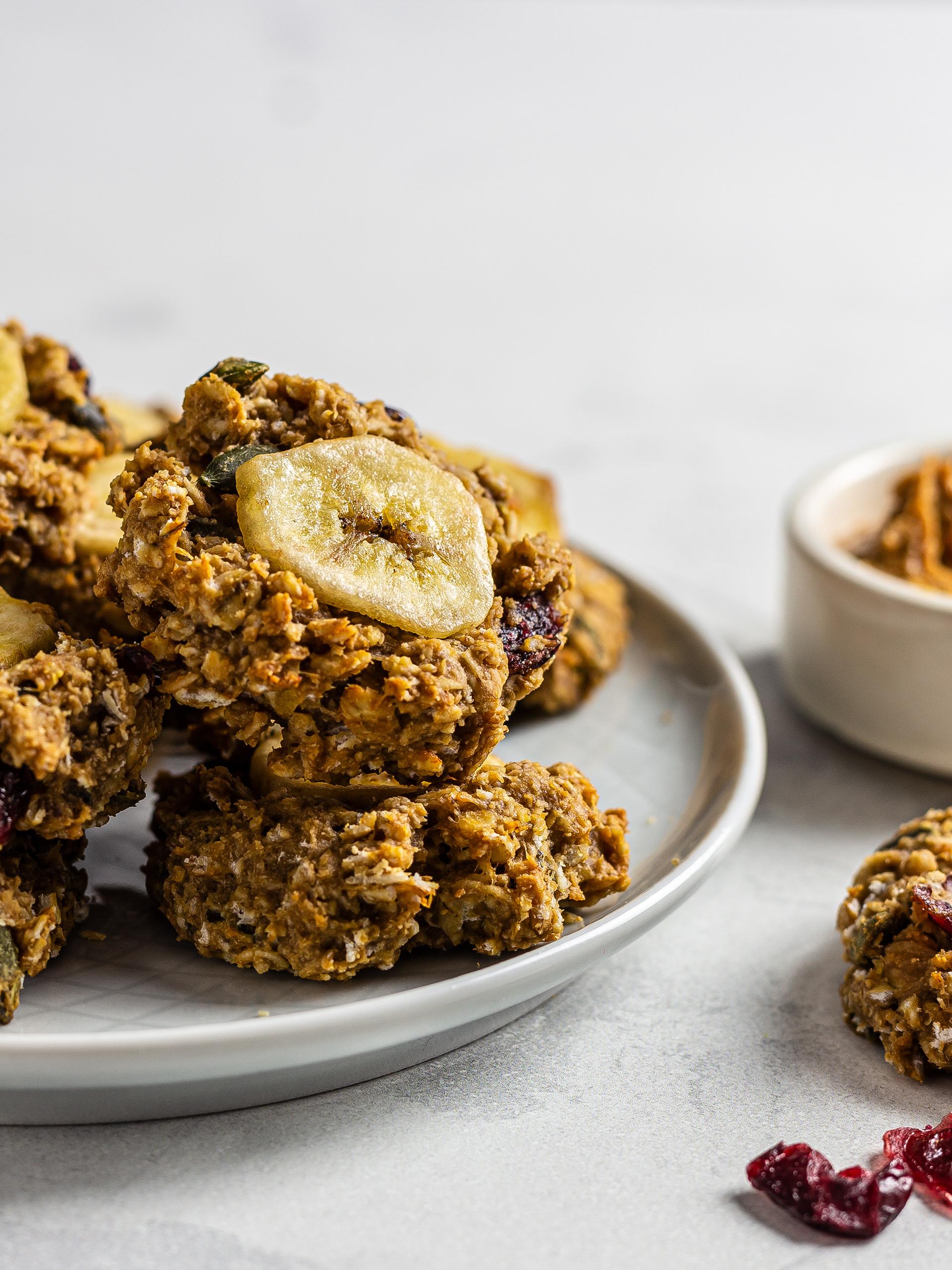Vegan Peanut Butter Banana Cookies Recipe Preview