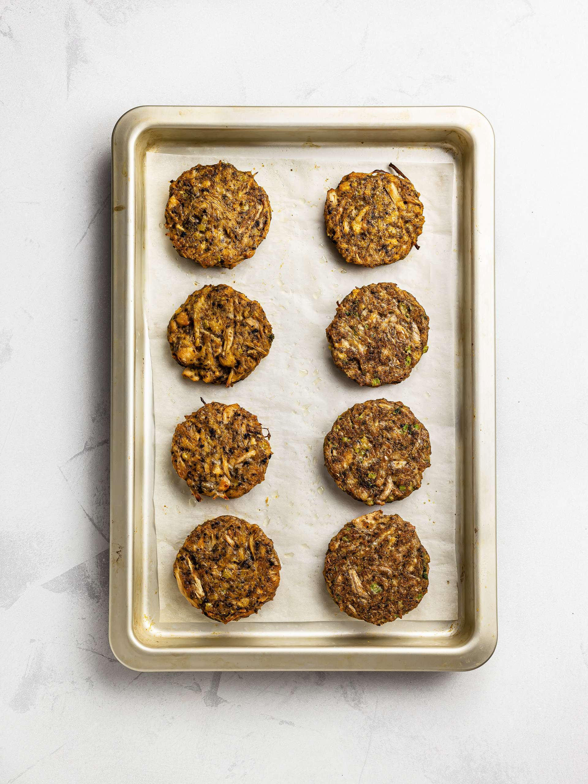 oven-baked jackfruit cakes