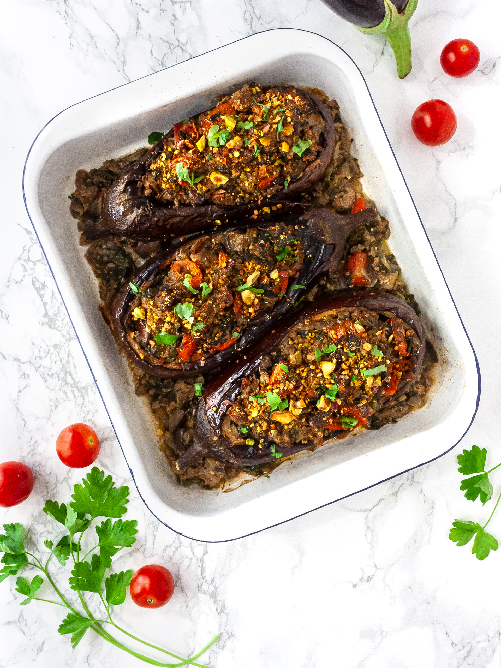 Keto Stuffed Eggplant Recipe Thumbnail