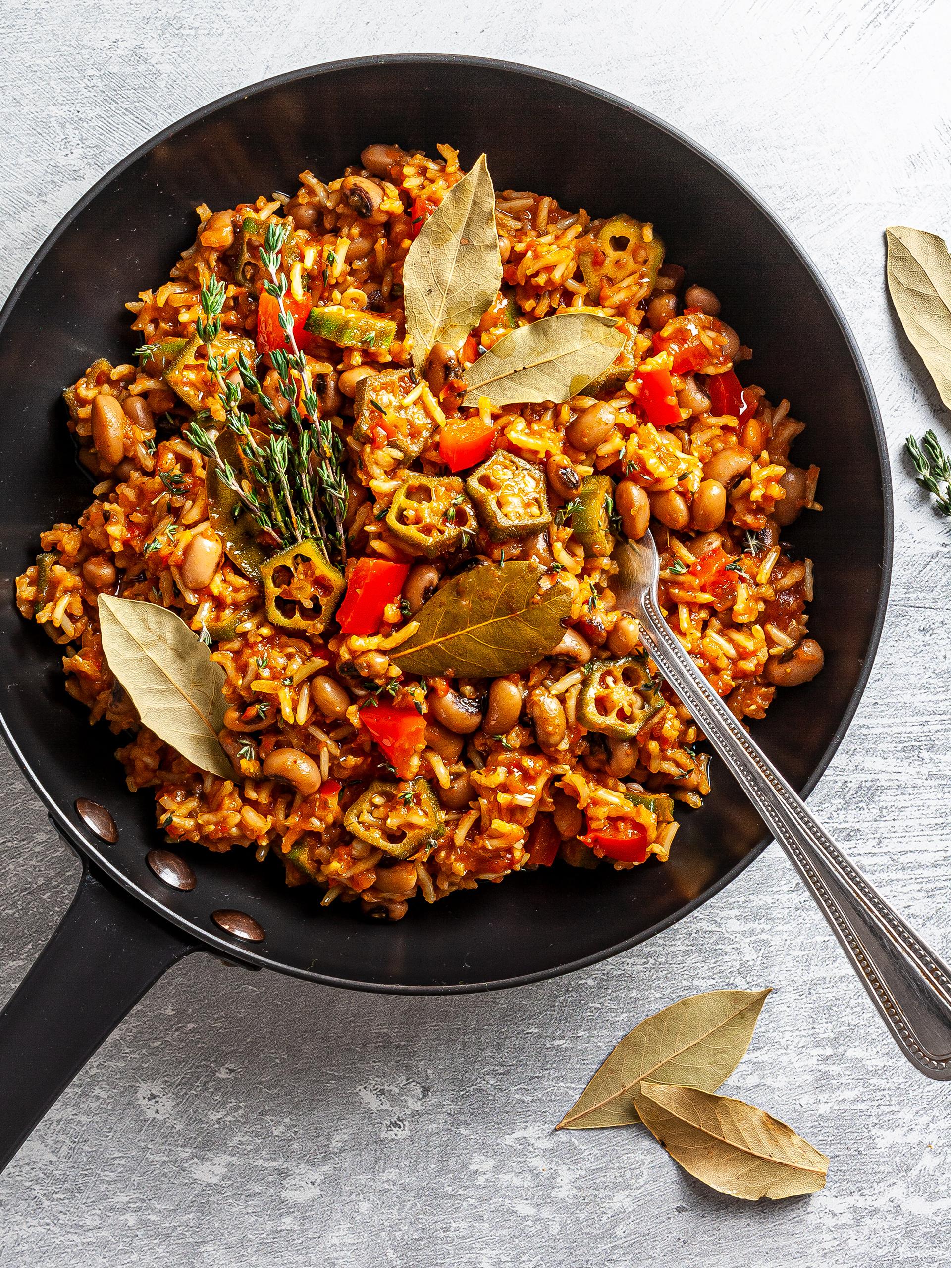 Vegan Nigerian Jollof Rice Recipe Thumbnail