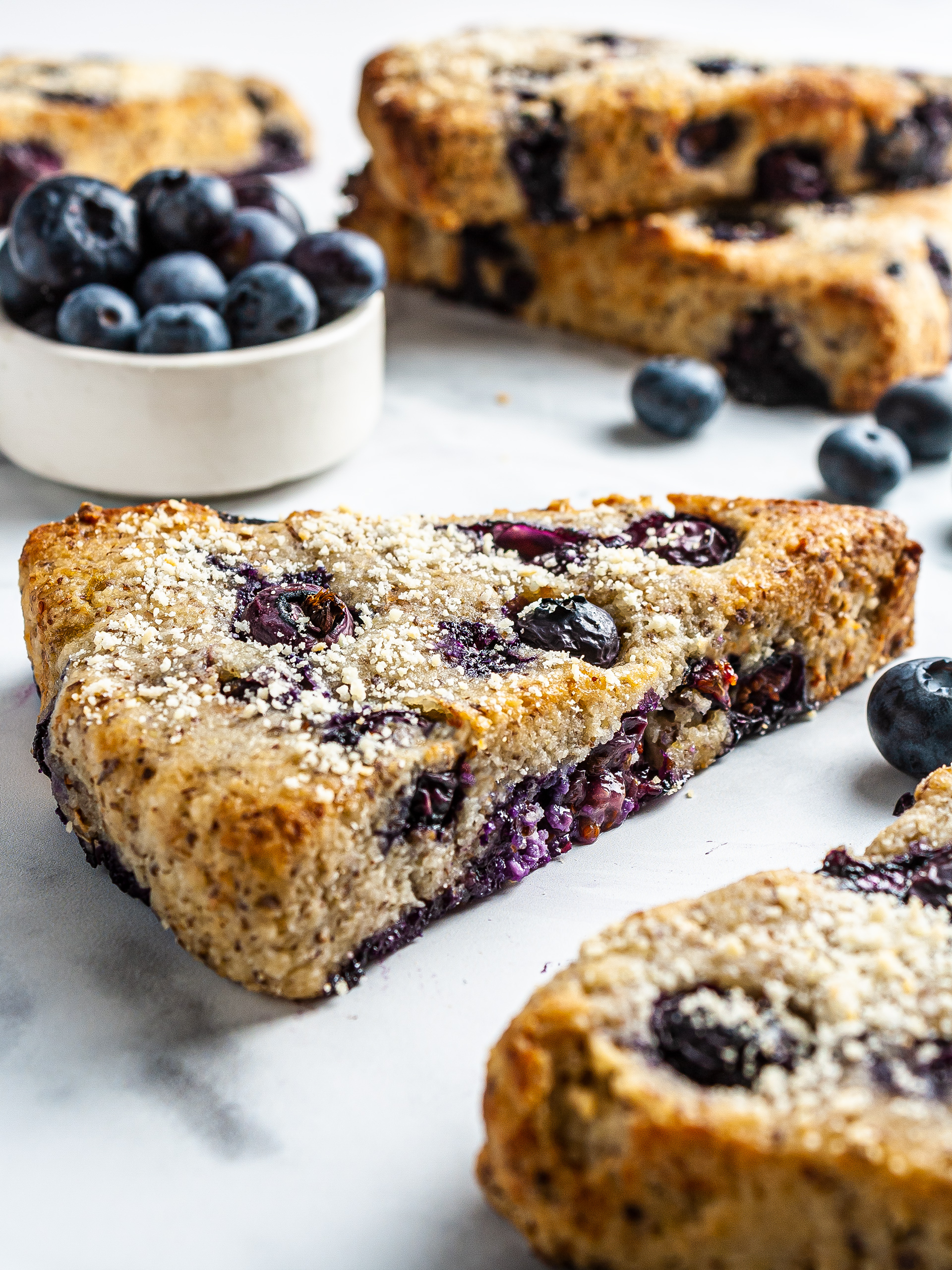 {Vegan, Keto} Blueberry Scones Recipe Thumbnail