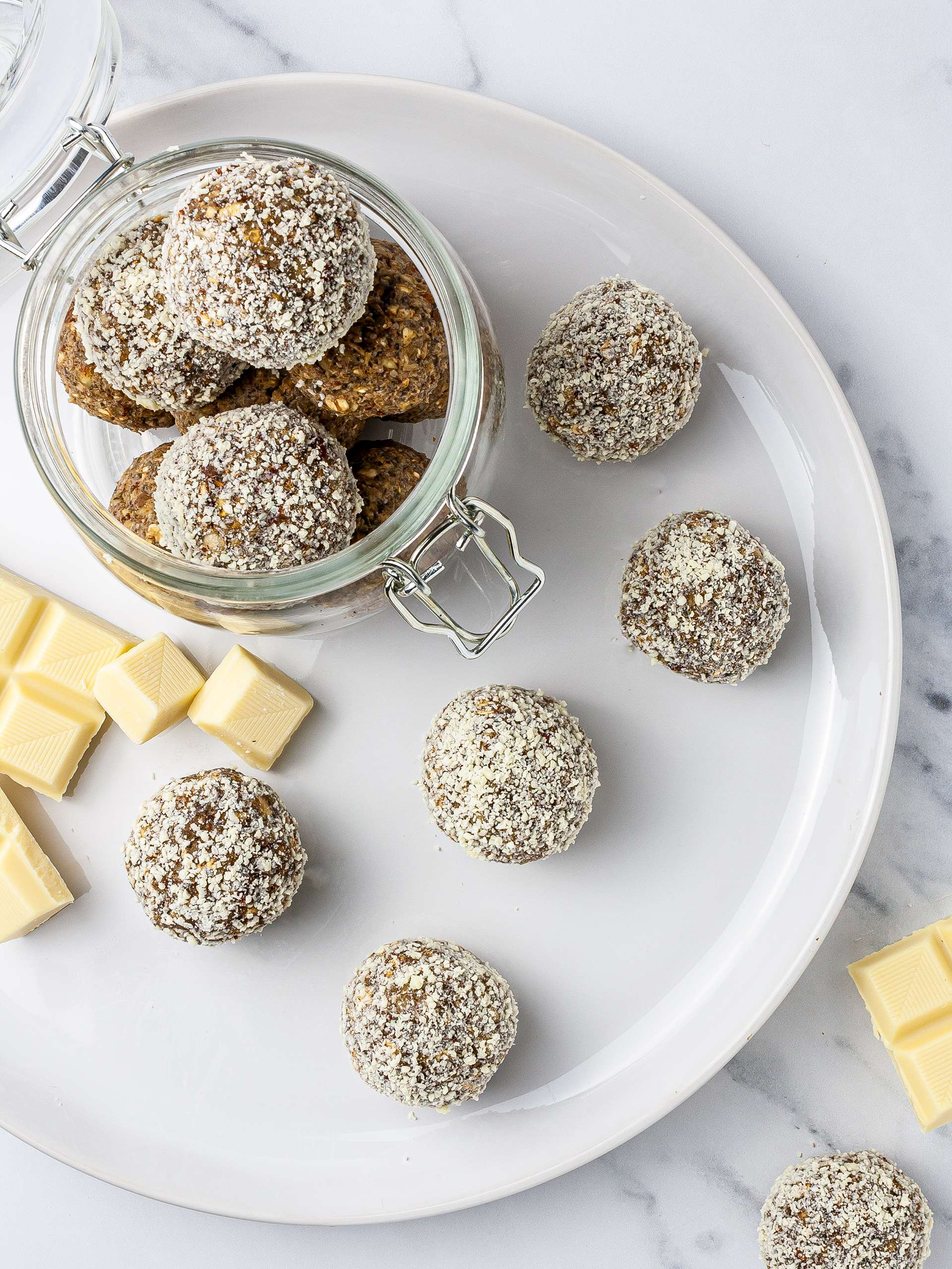 White Chocolate Protein Balls with Hemp Seeds Recipe Thumbnail