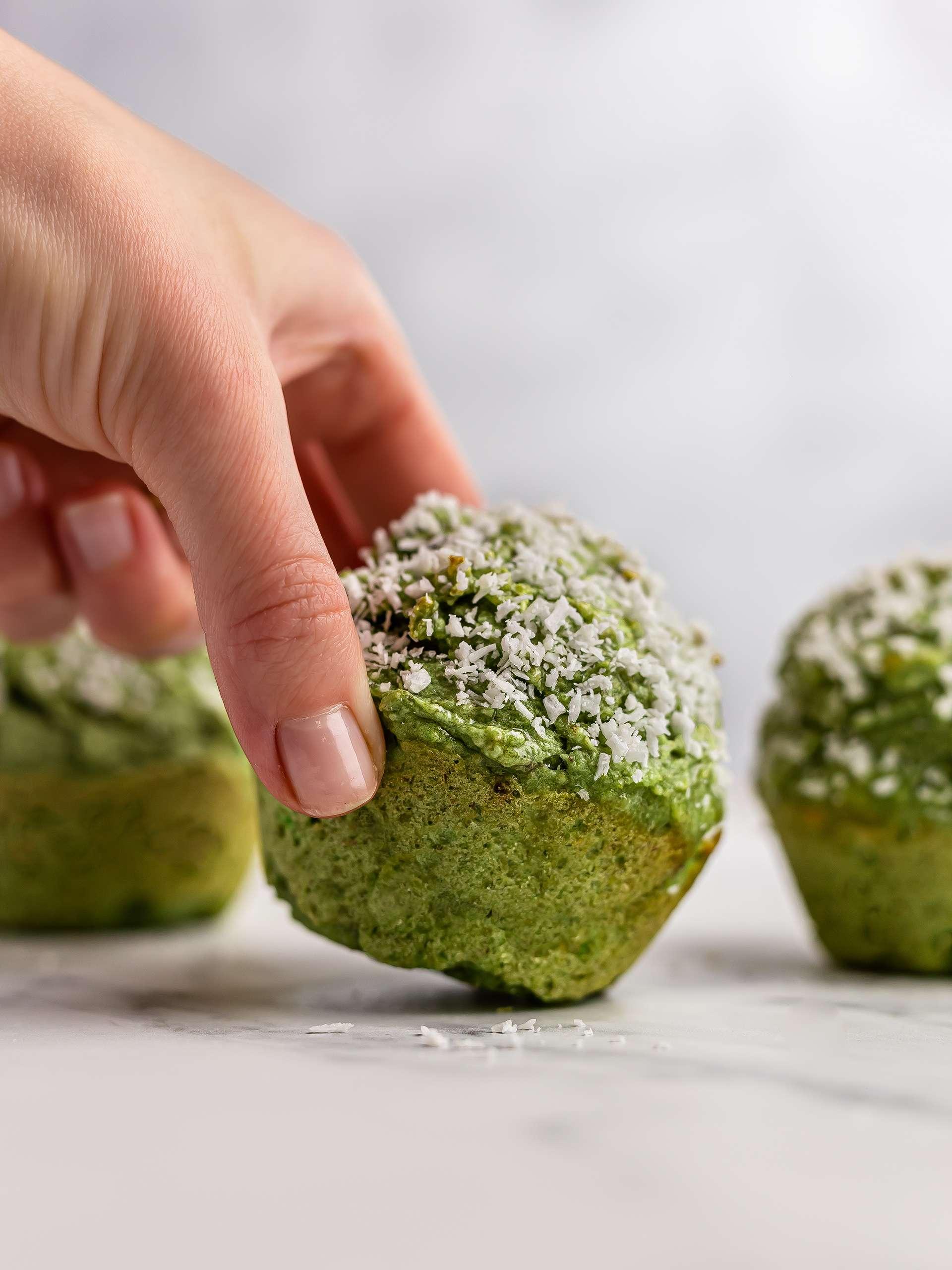 Pandan Muffins (Vegan, Gluten-Free) Thumbnail