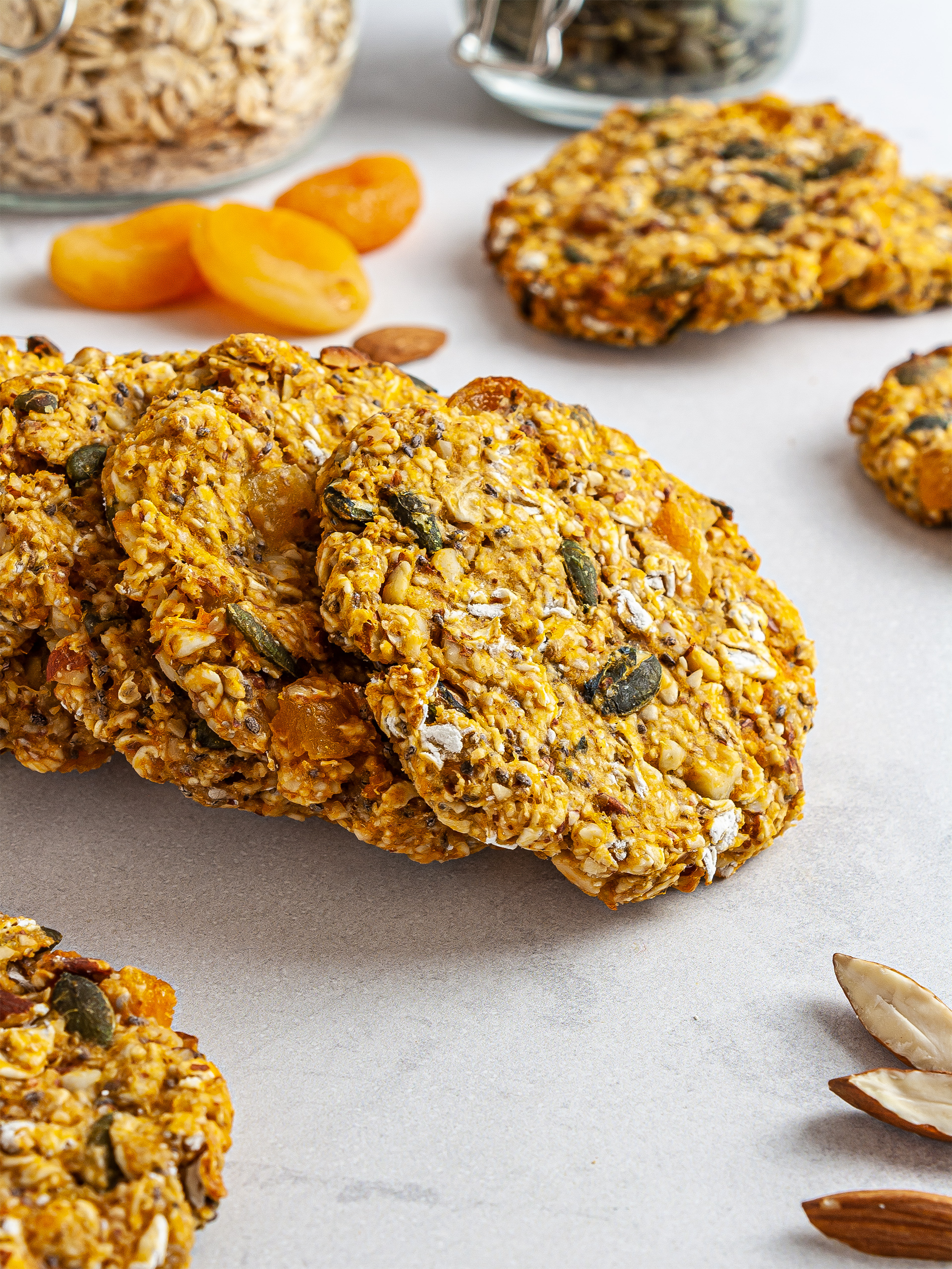{Vegan, Gluten-Free} Sweet Potato Breakfast Cookies Thumbnail