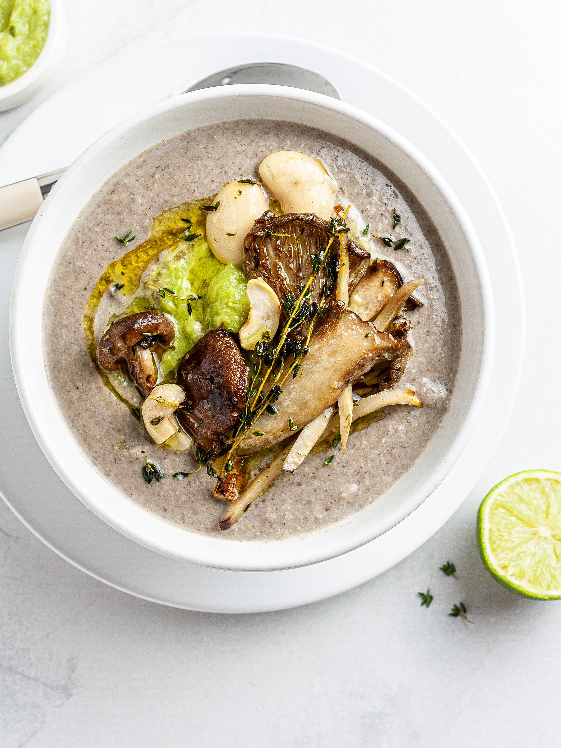 Vegan King Oyster Mushroom Soup Recipe Thumbnail
