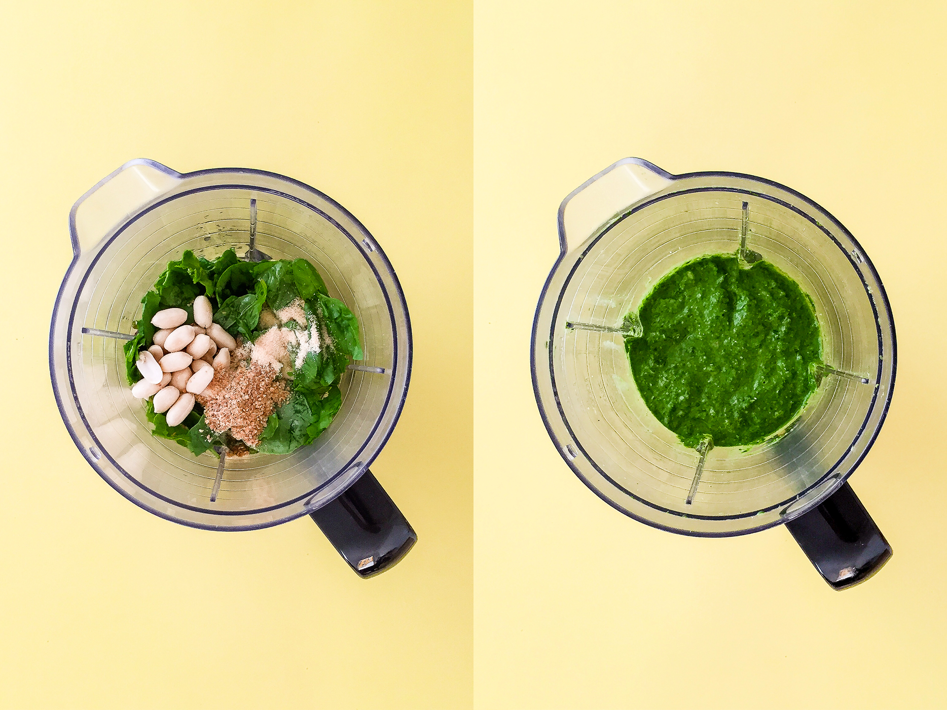Step 2.1 of Spinach Mushroom Pesto Pasta Recipe