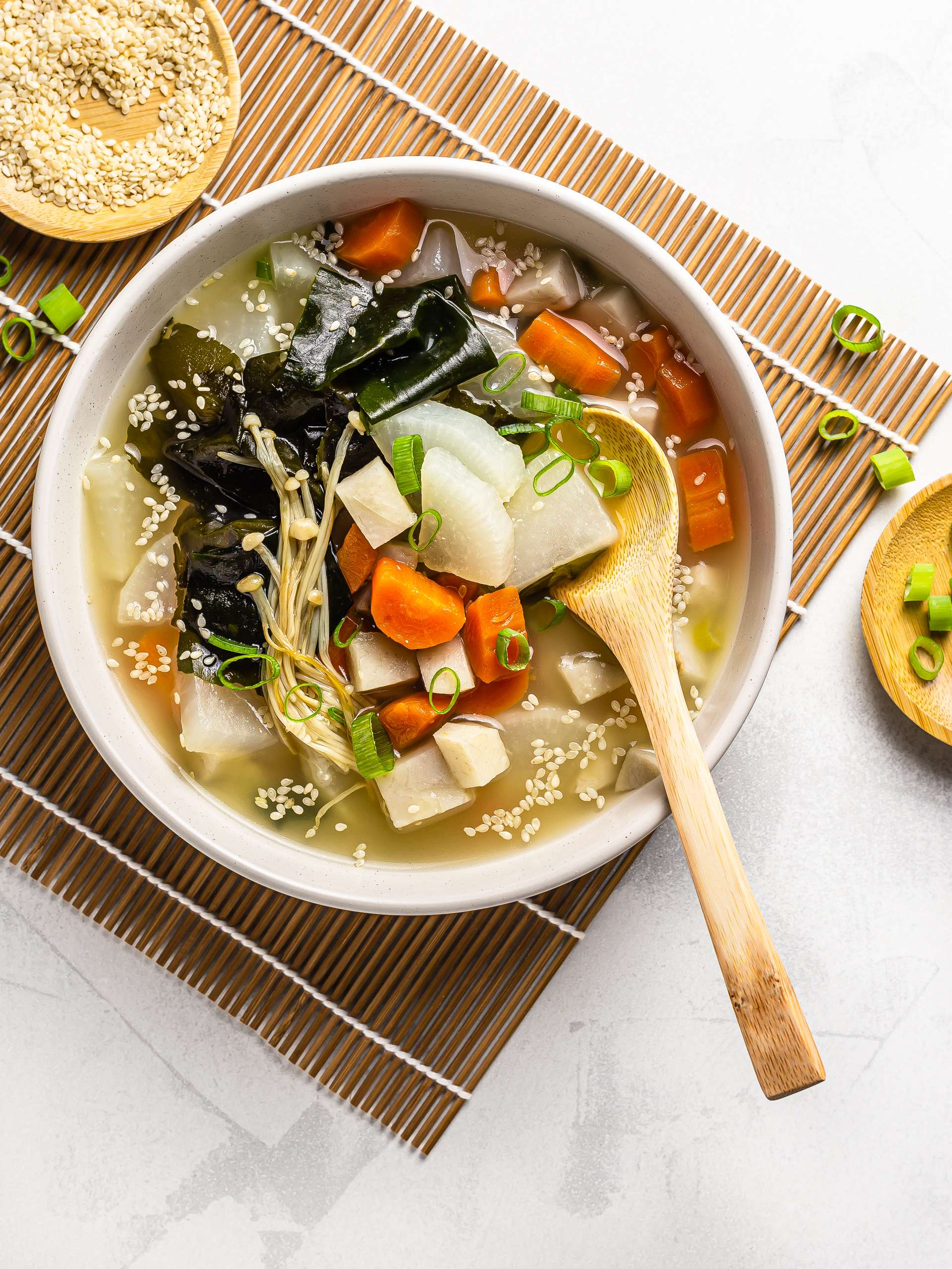Vegan Daikon Miso Soup Recipe Thumbnail