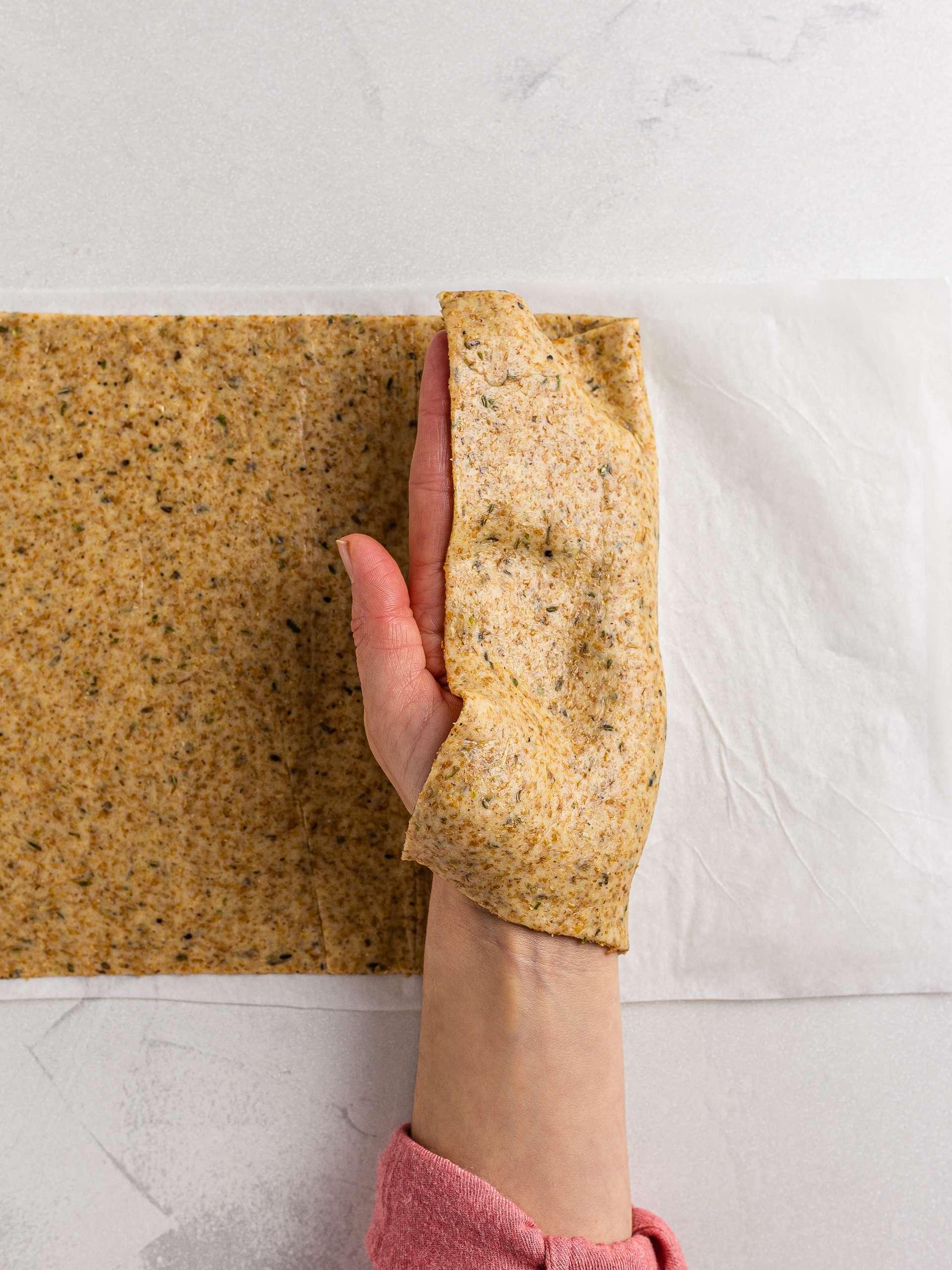 sourdough cracker slab