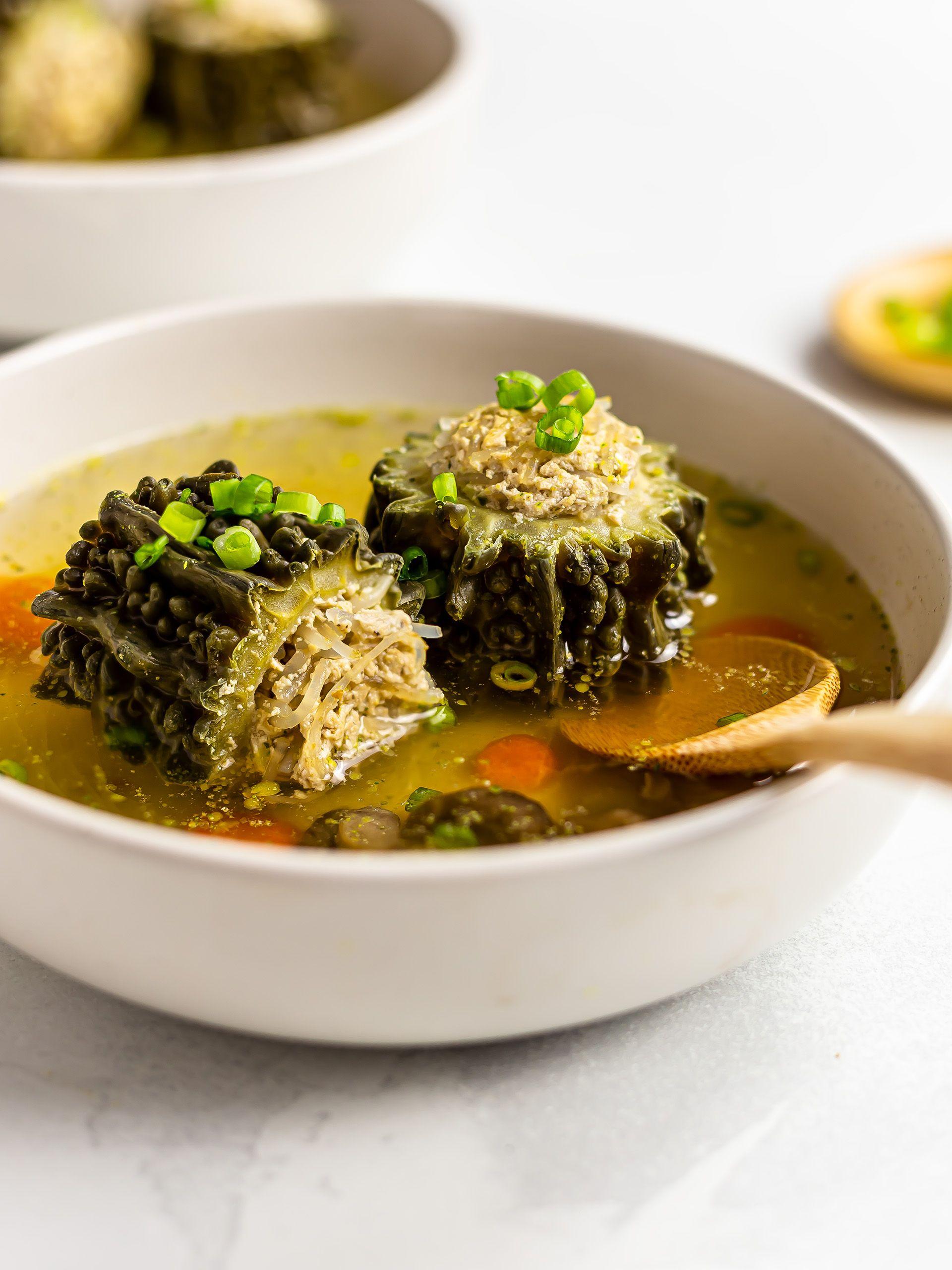 Vegan Stuffed Bitter Melon Soup