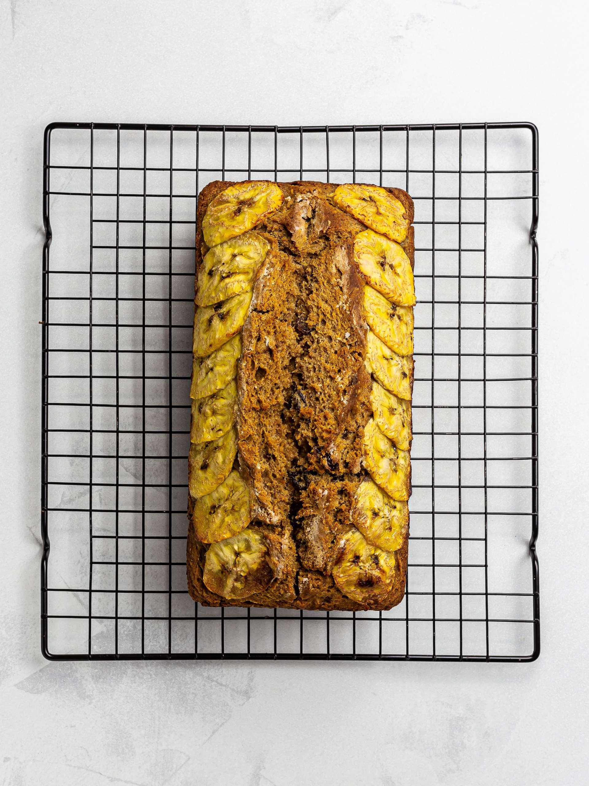 baked vegan plantain bread