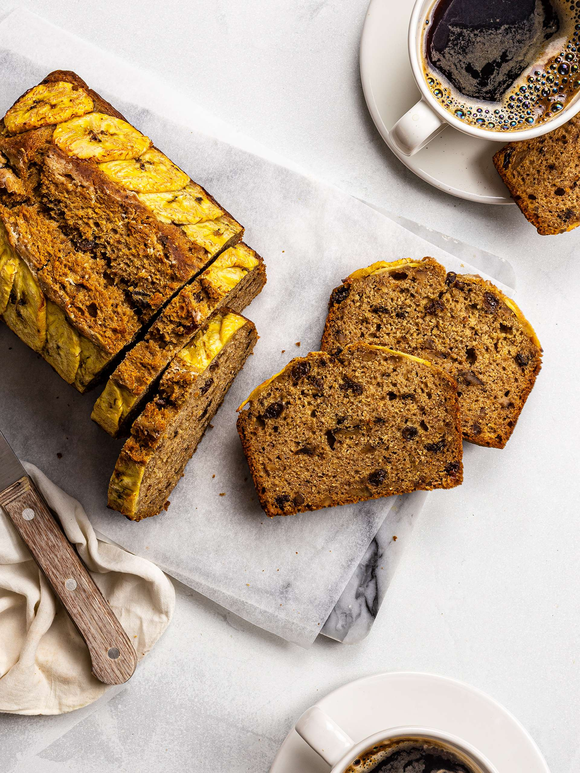 Vegan Plantain Bread with Walnuts and Raisins