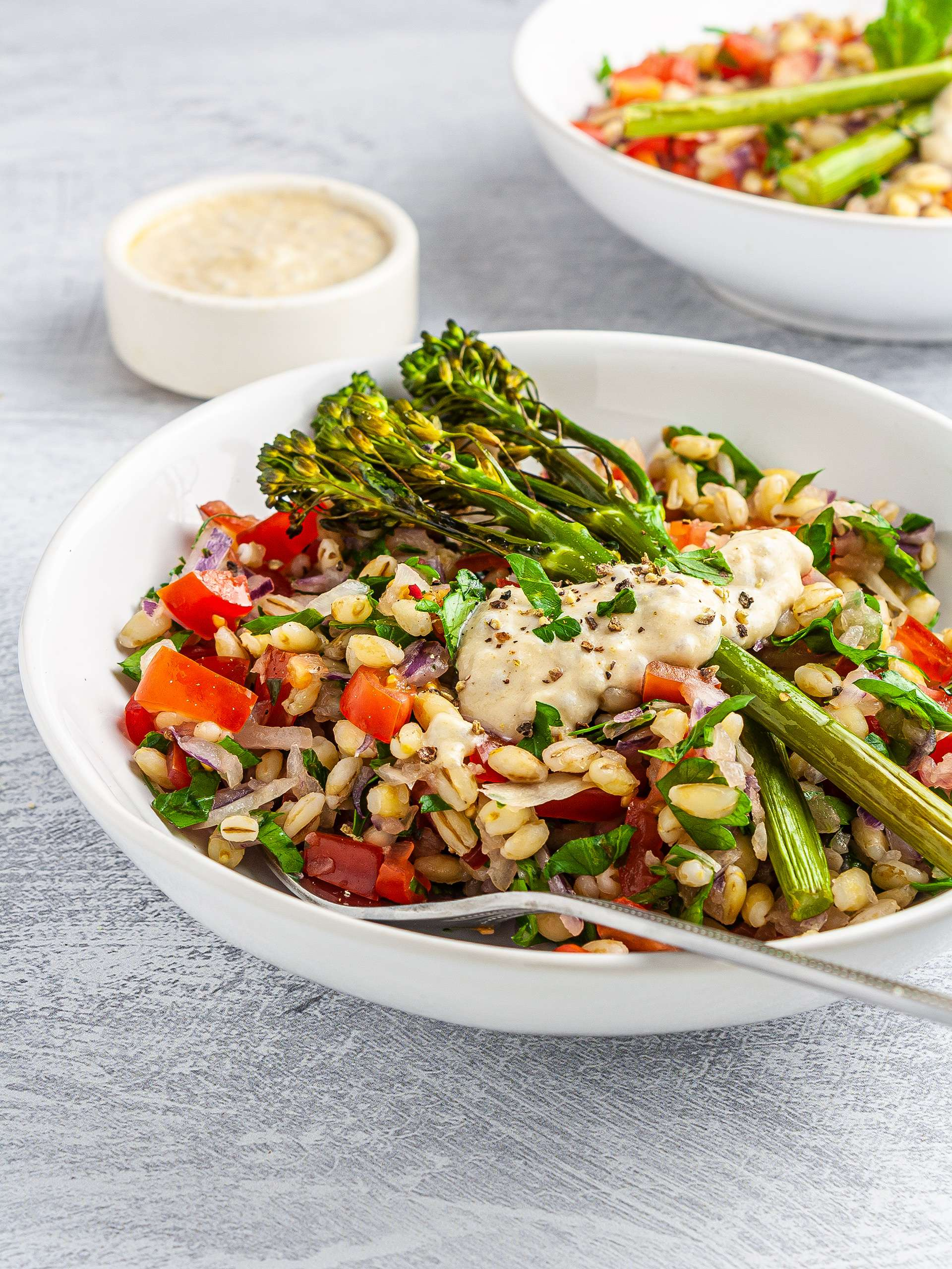 Barley Tabbouleh with Tenderstem Broccoli