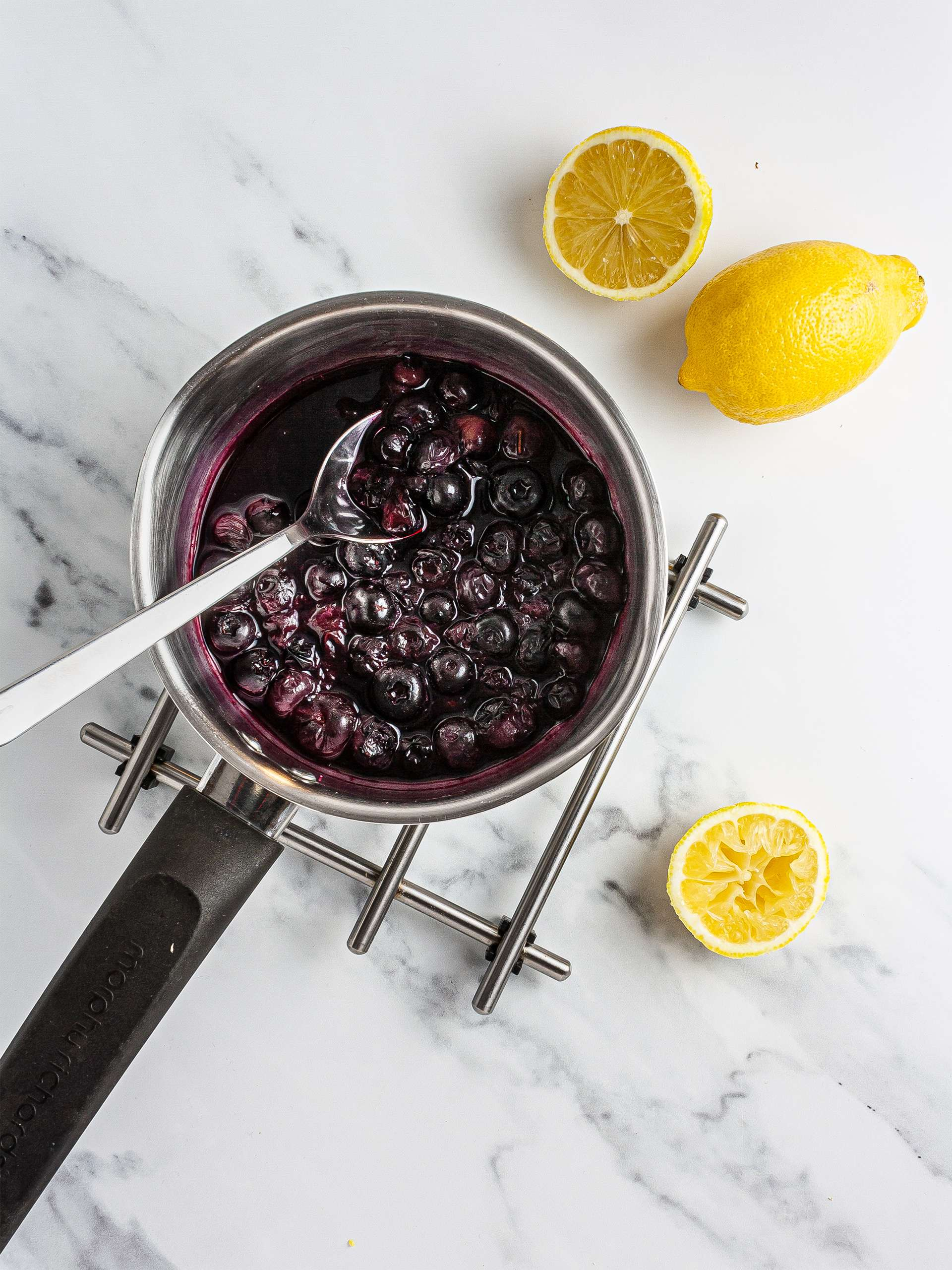 Lemon blueberry compote