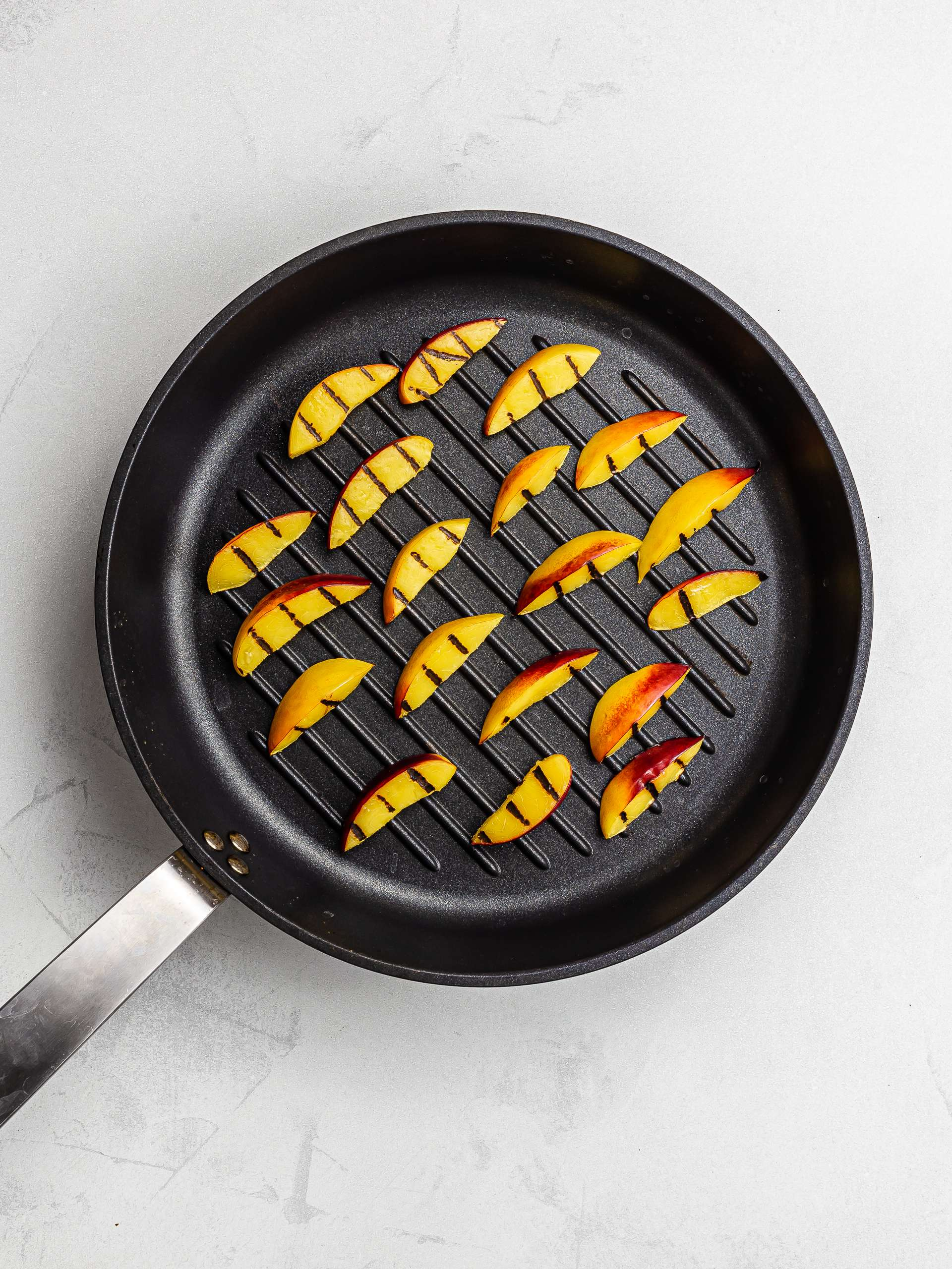 grilled peach wedges