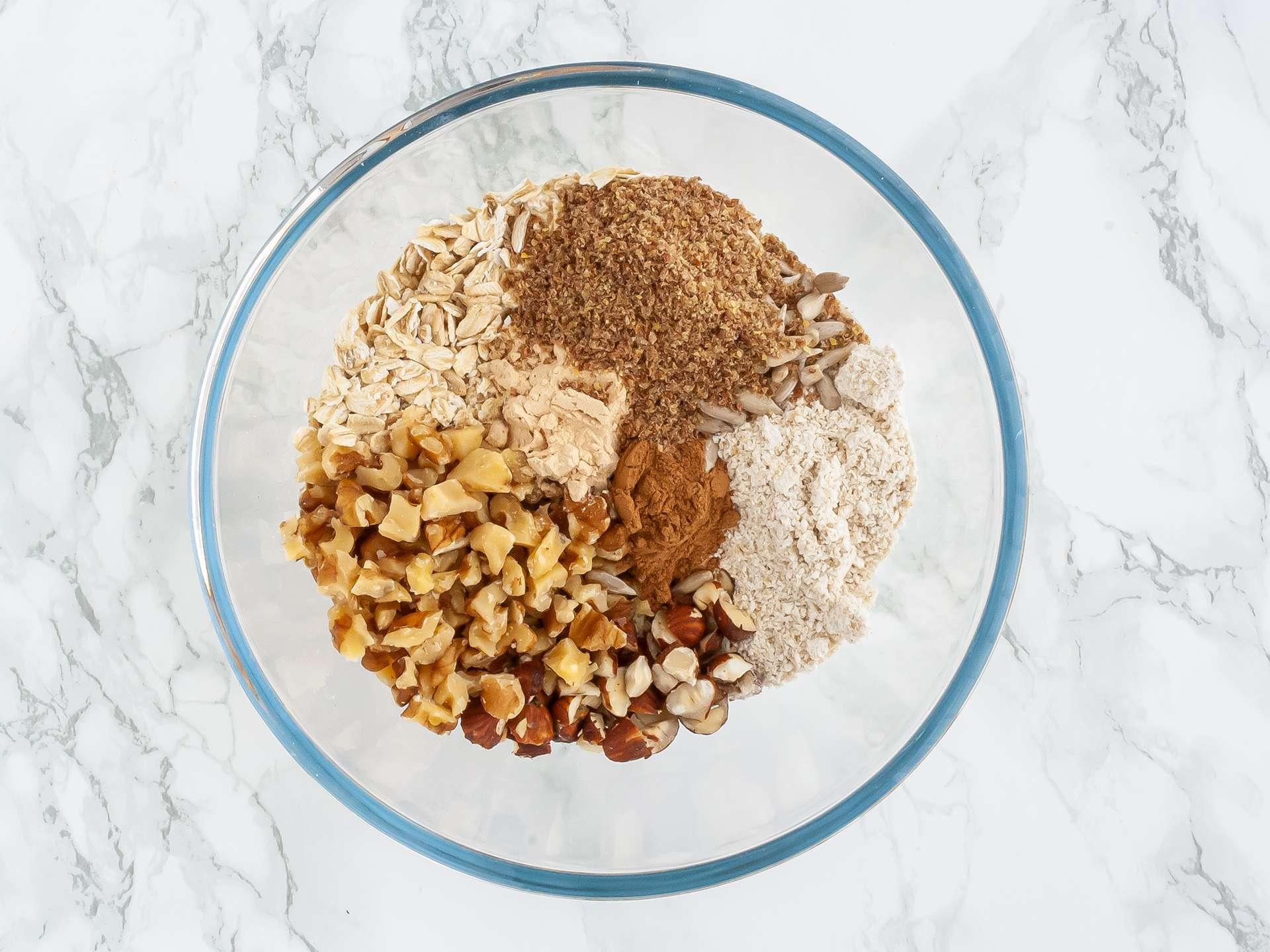 Step 1.1 of Sugar Free Banana and Date Flapjack Recipe
