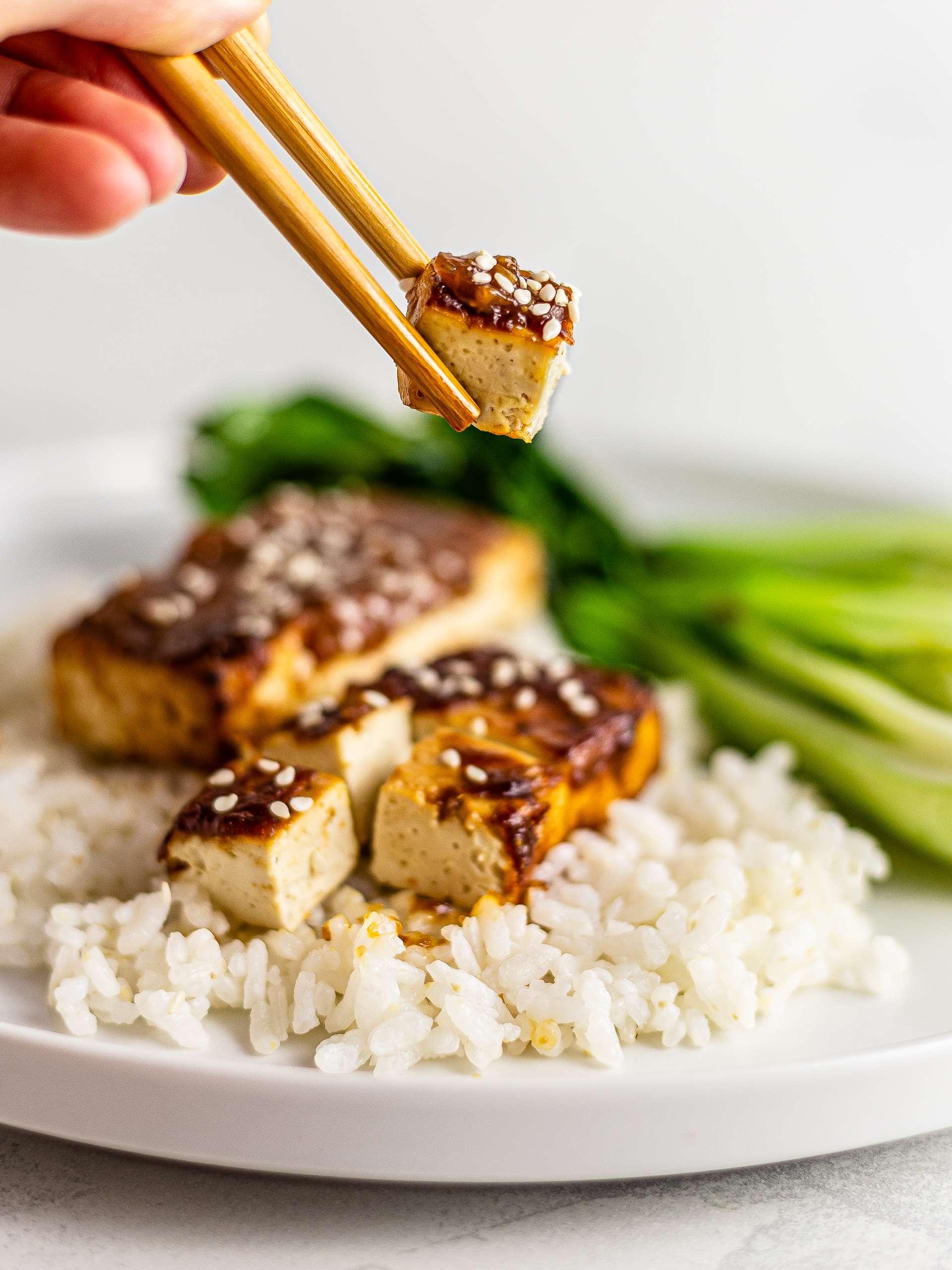 Vegan Oven-Baked Tofu Teriyaki Recipe Thumbnail