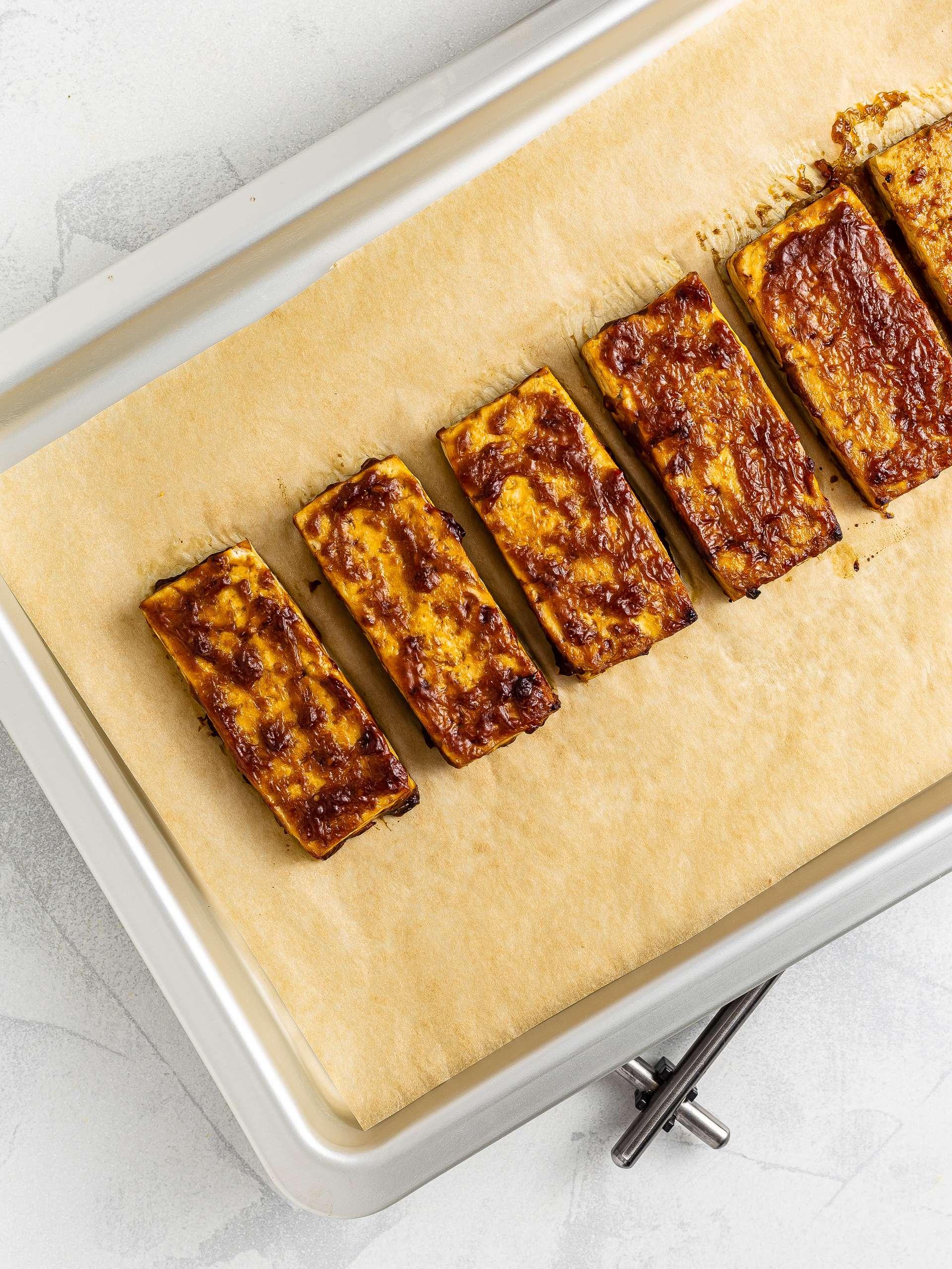 oven-baked tofu teriyaki