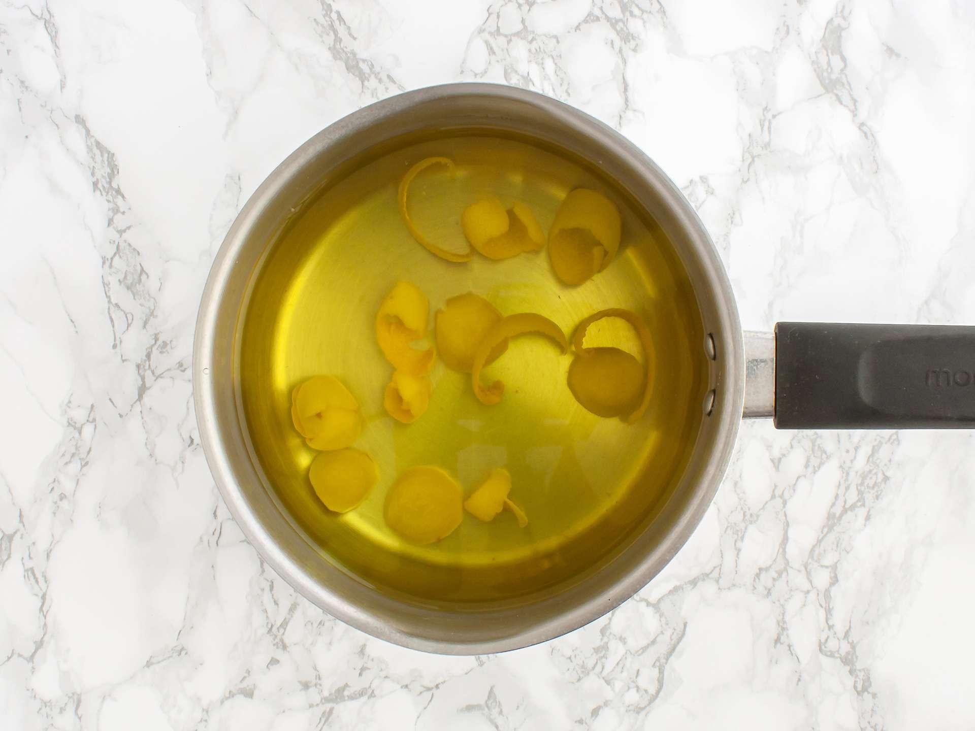 Boiled lemon peel.