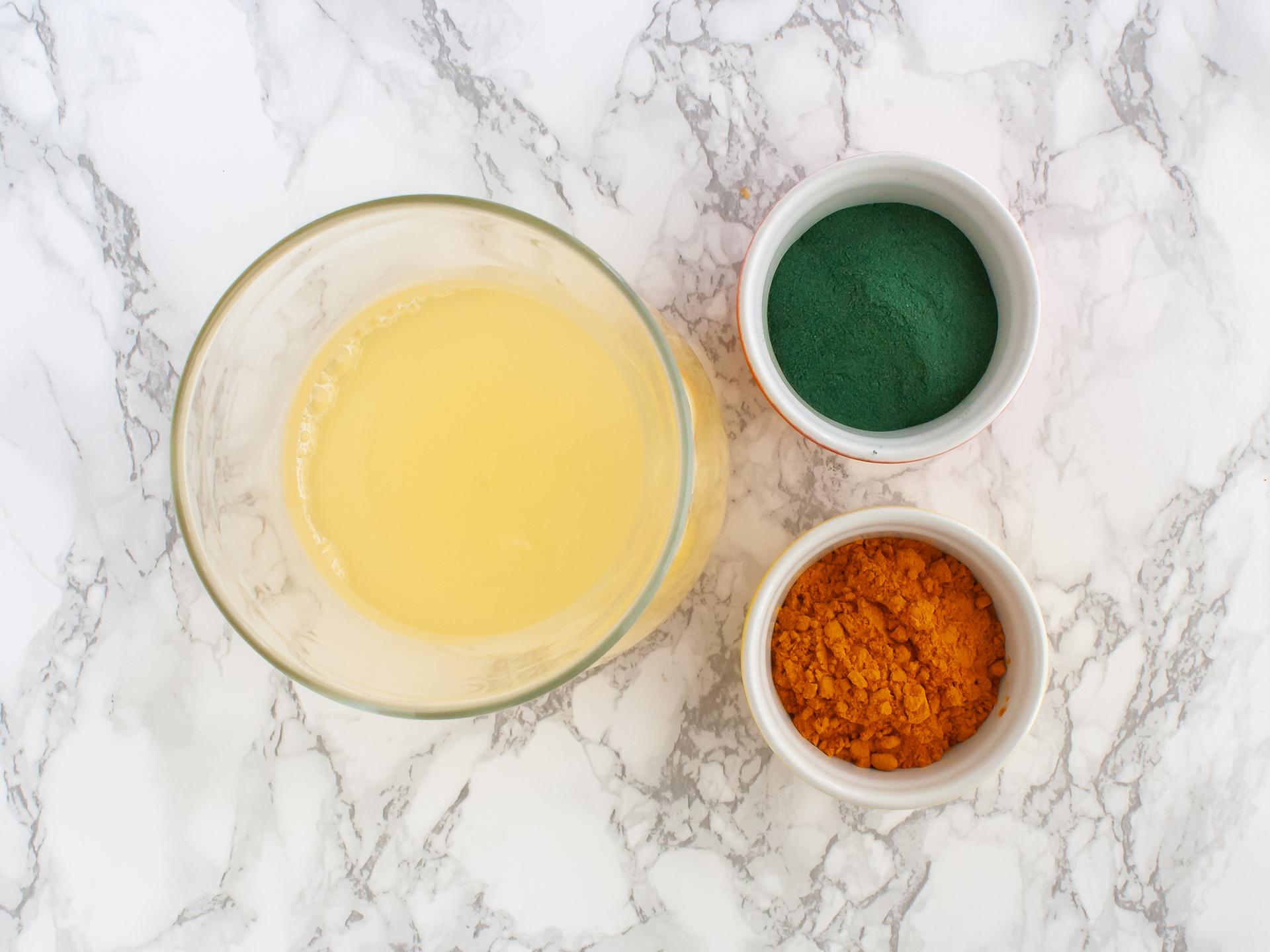 Spirulina, turmeric, and lemonade