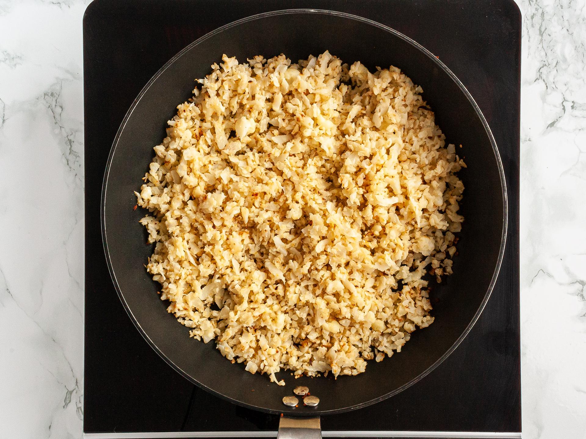 Step 2.1 of Crispy Cauliflower Rice Recipe