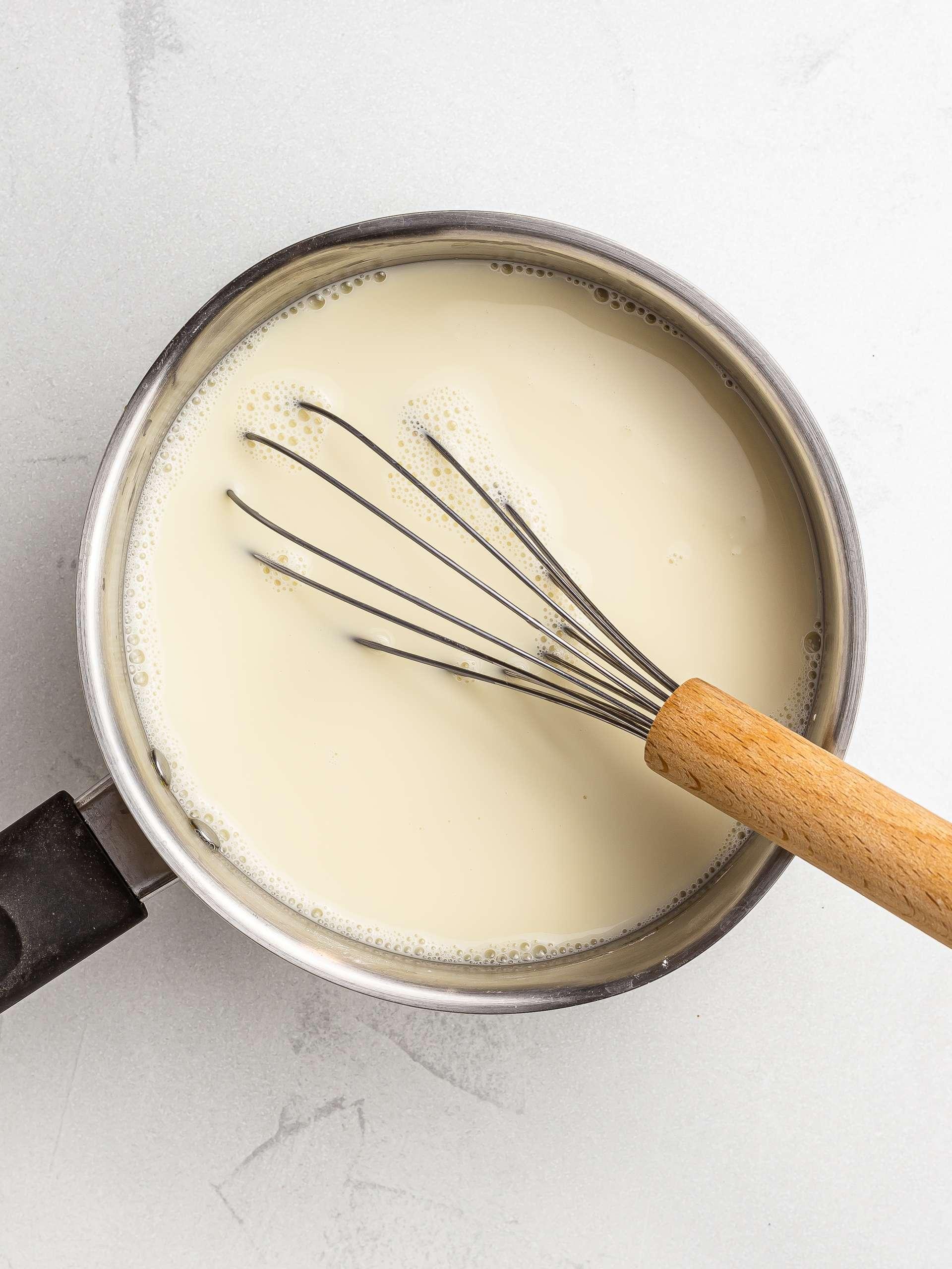 almond milk pudding muhallebi ingredients