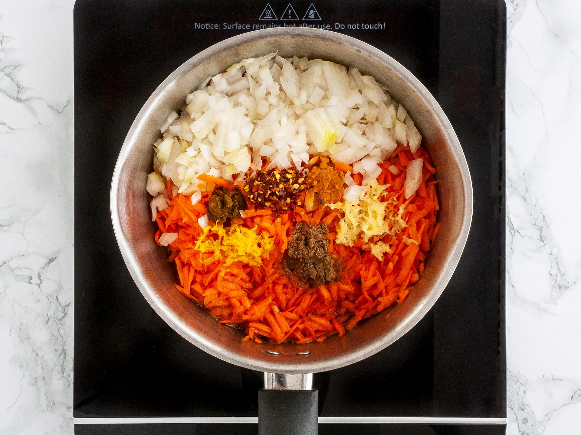 Step 1.1 of Carrot Chutney Recipe